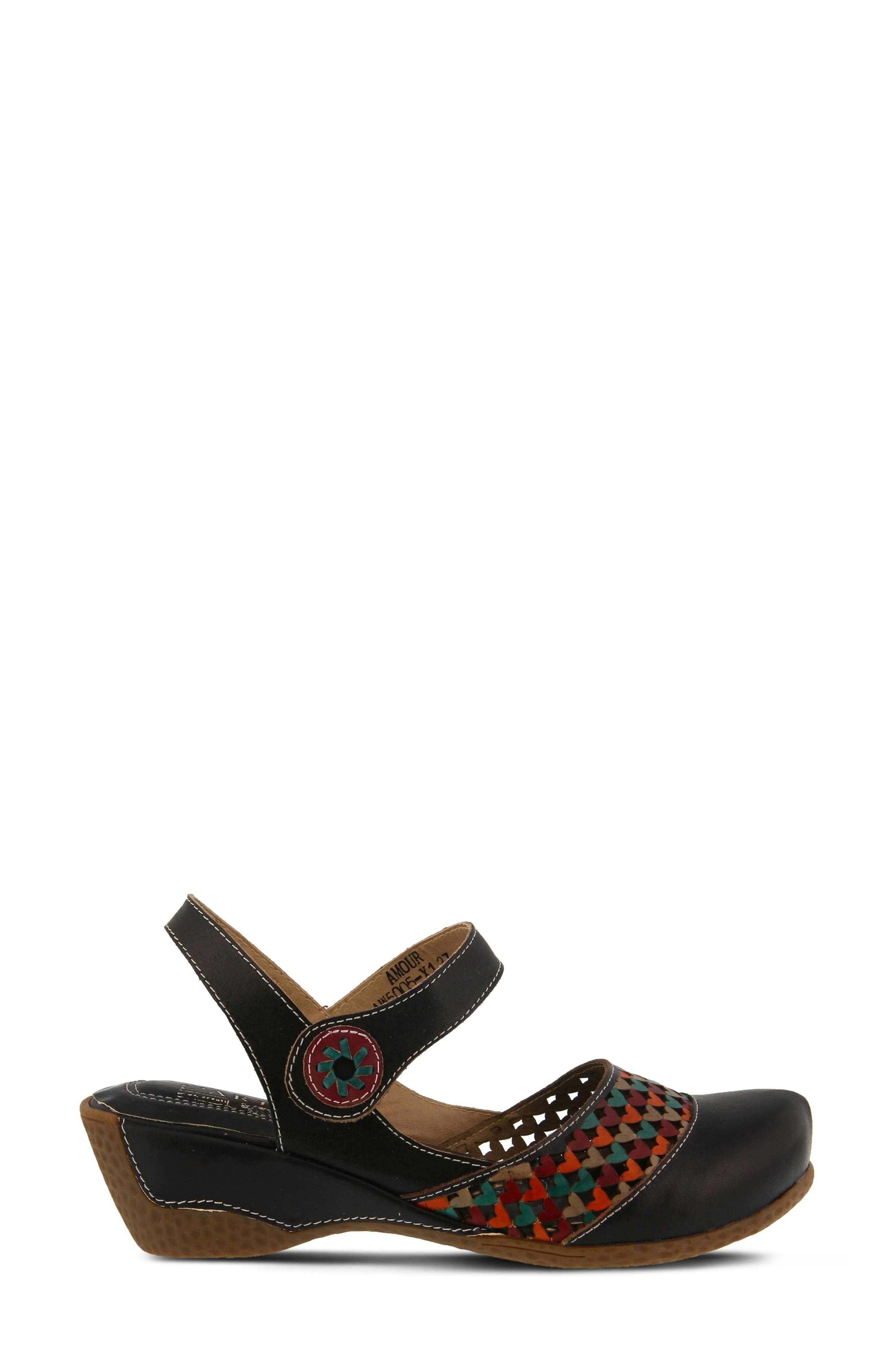 L'Artiste Amour Sandal,                             Alternate thumbnail 3, color,                             Black Leather