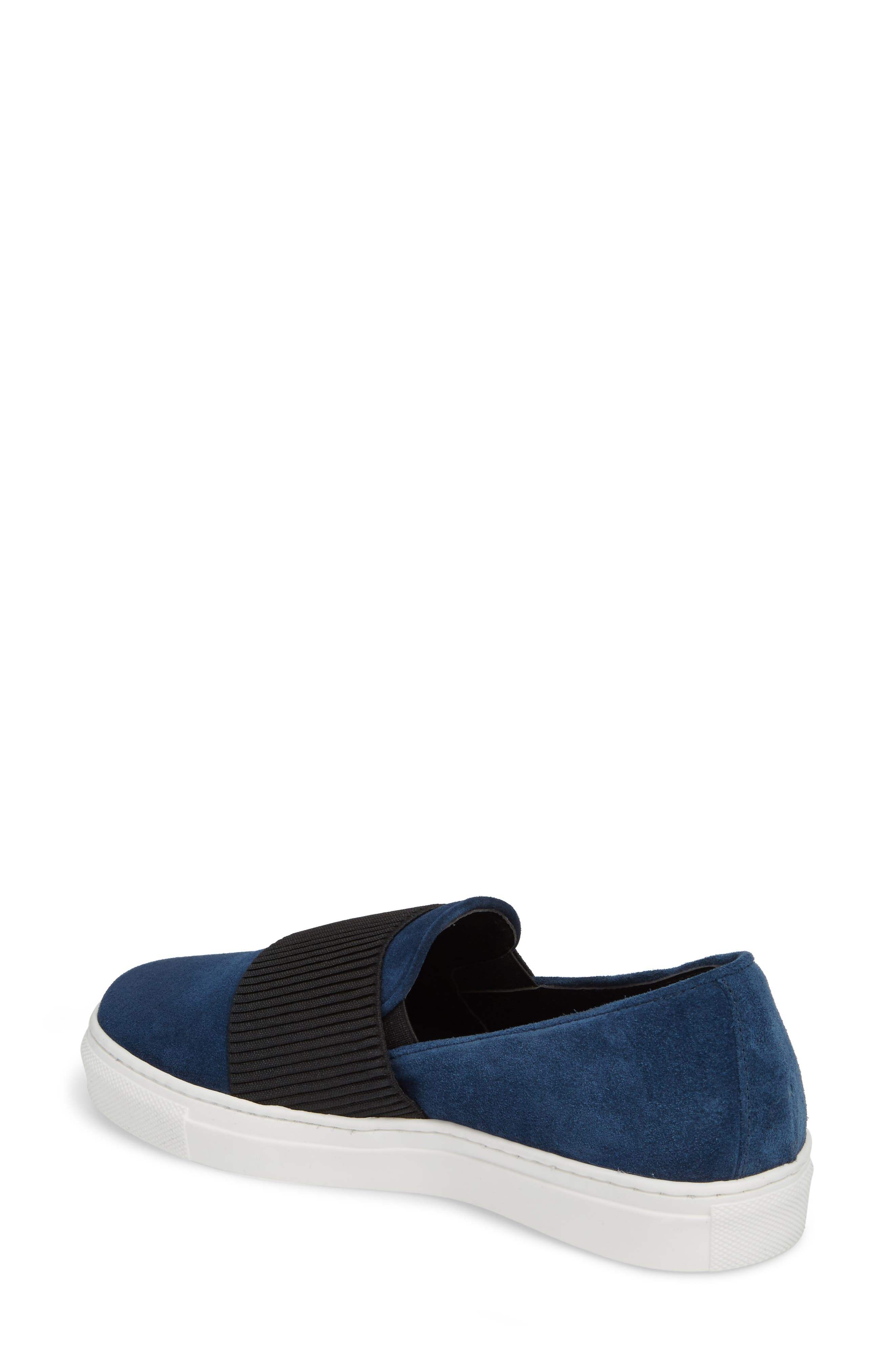 Otto Slip-On Sneaker,                             Alternate thumbnail 2, color,                             Navy Suede