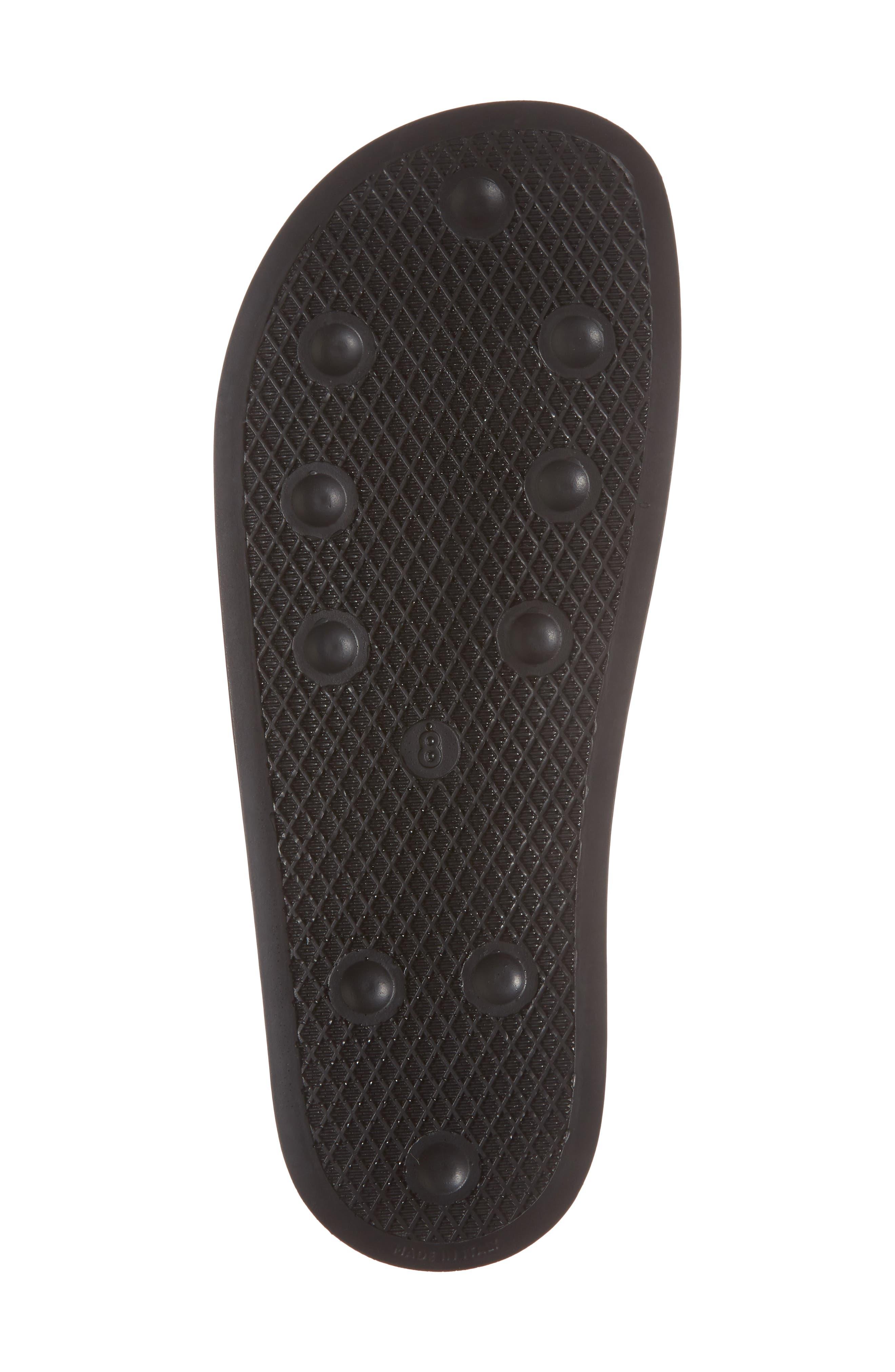 Adilette Checkerboard Sport Slide,                             Alternate thumbnail 6, color,                             Core Black/ Granite
