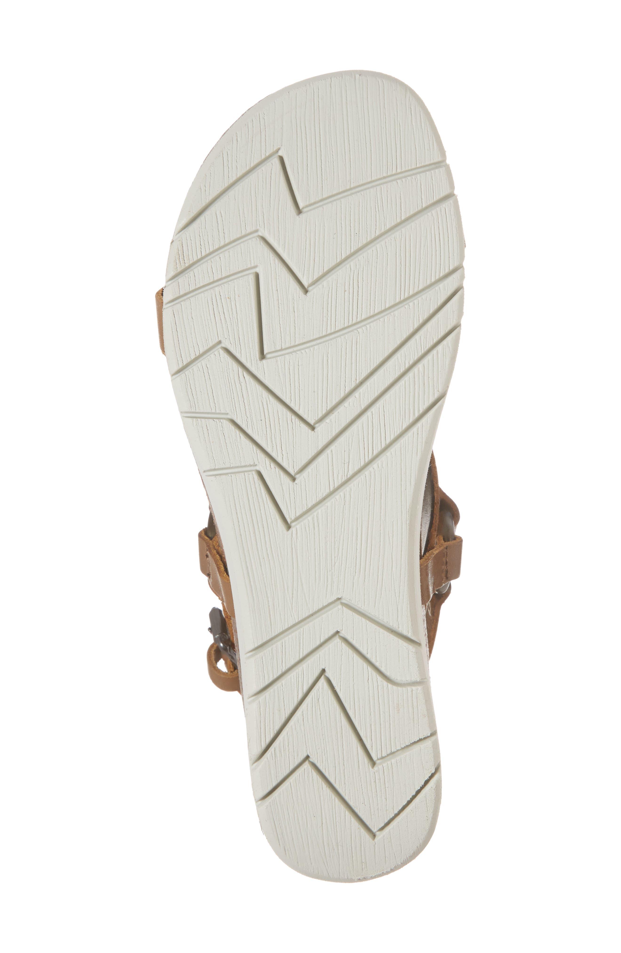 Maverick Wedge Sandal,                             Alternate thumbnail 6, color,                             New Taupe Leather