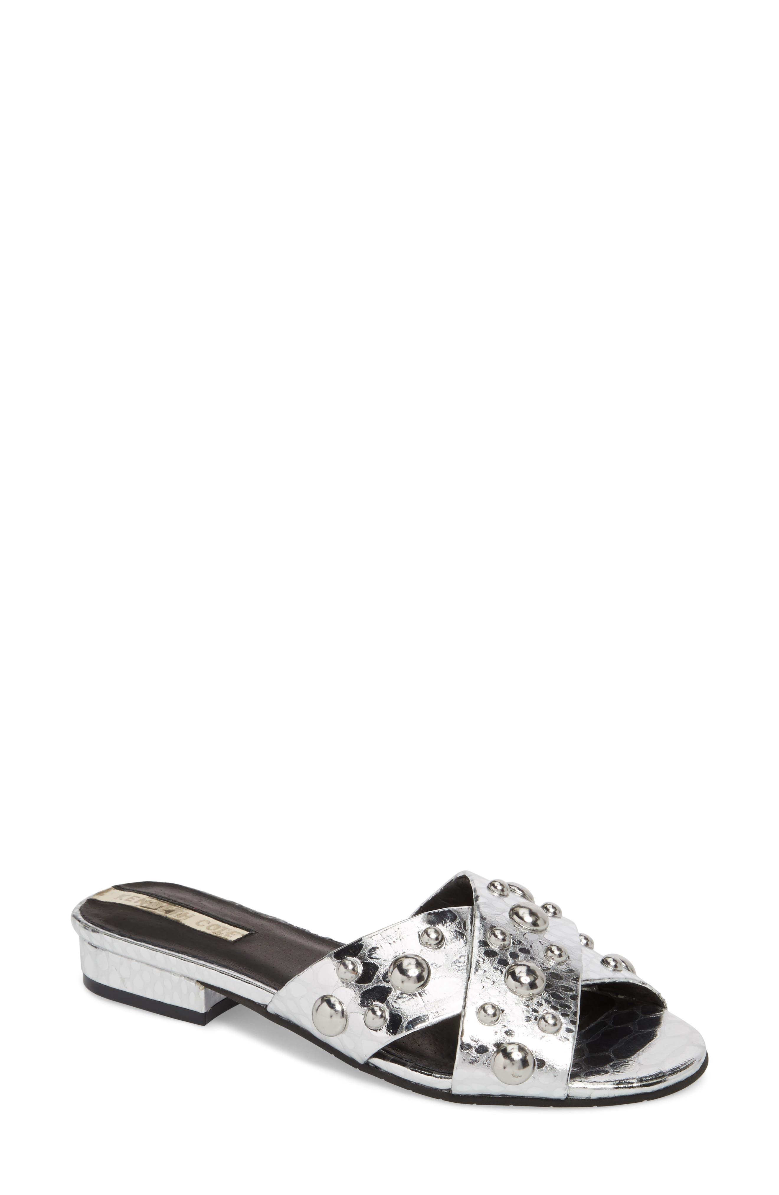 Kenneth Cole New York Verna Studded Slide Sandal (Women)