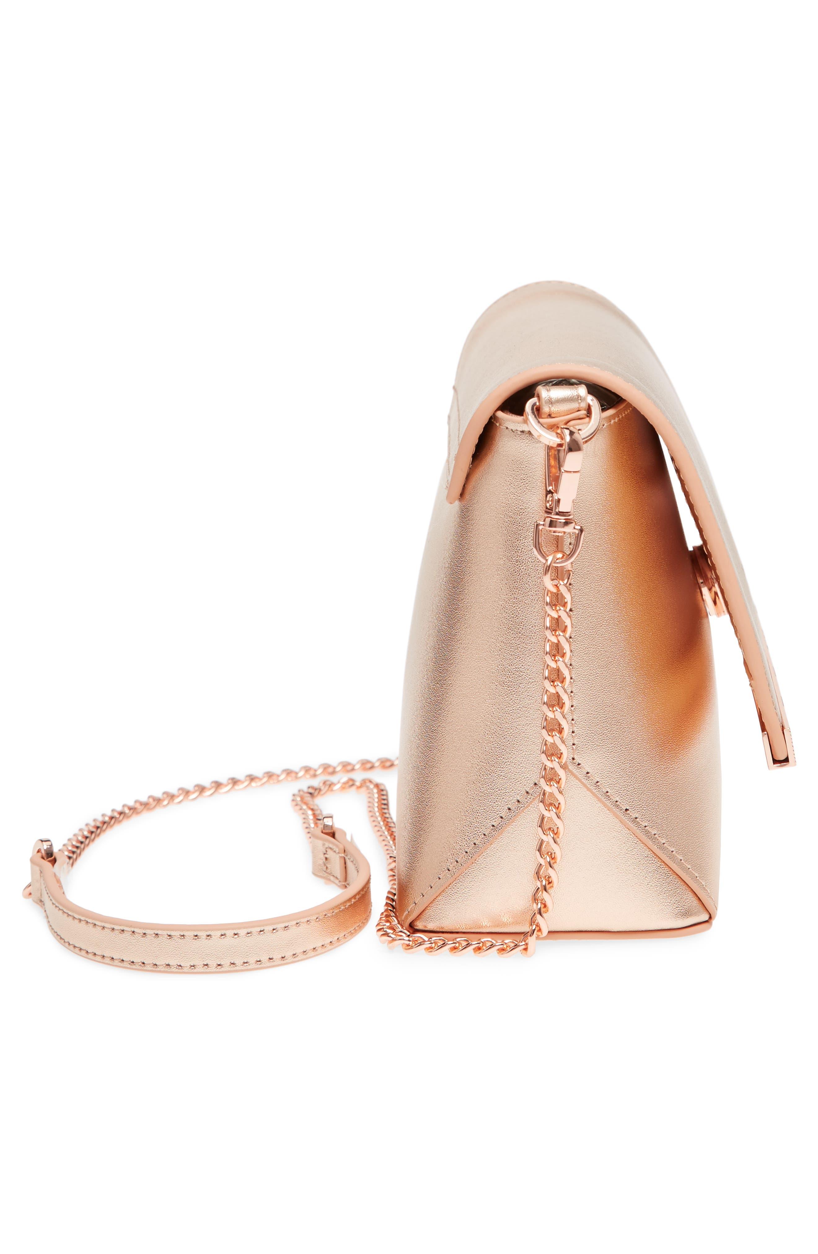 Alternate Image 4  - Ted Baker London Bow Embossed Leather Crossbody Bag