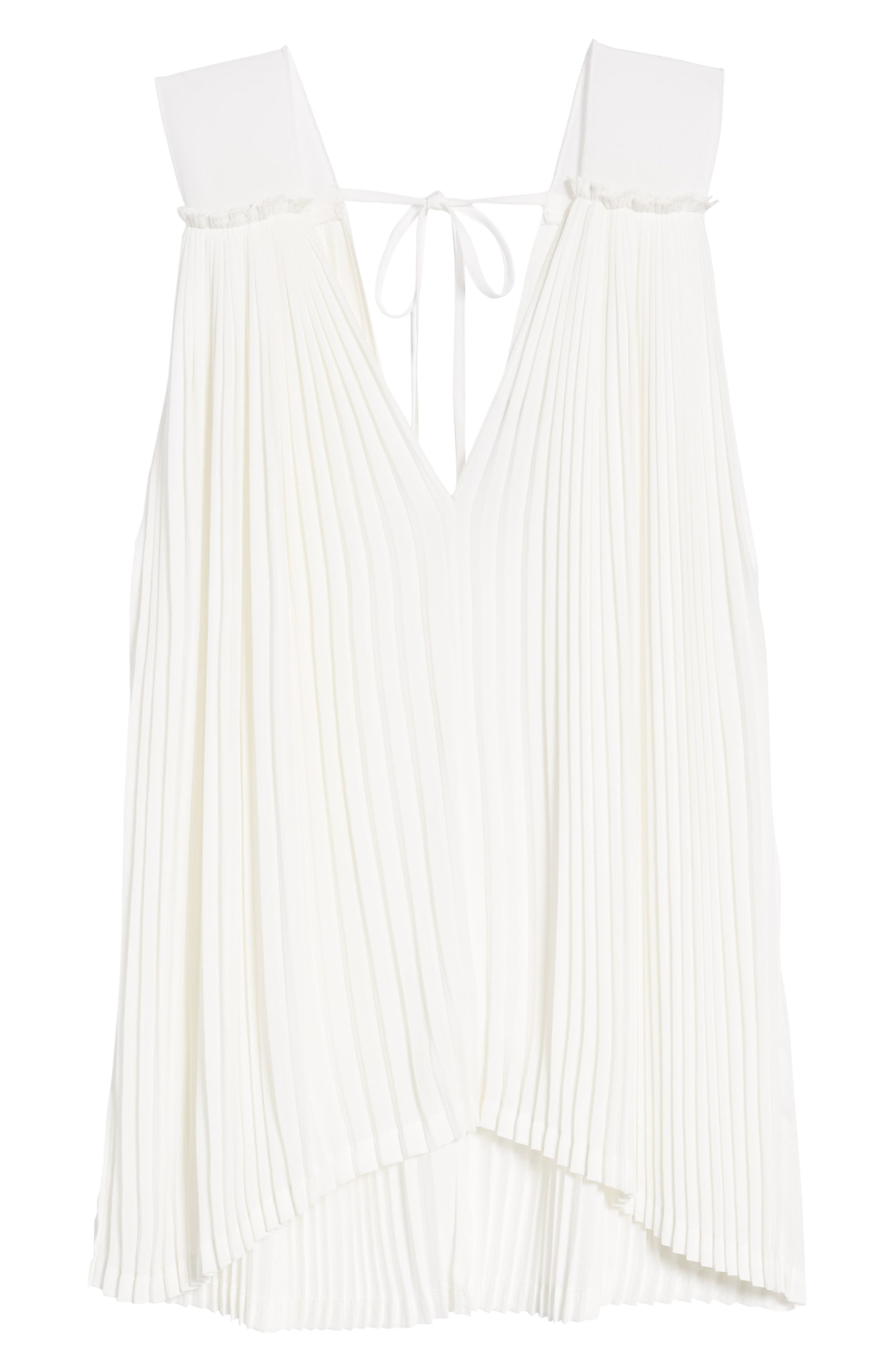 Bishop + Young Pleat Blouse,                             Alternate thumbnail 6, color,                             White