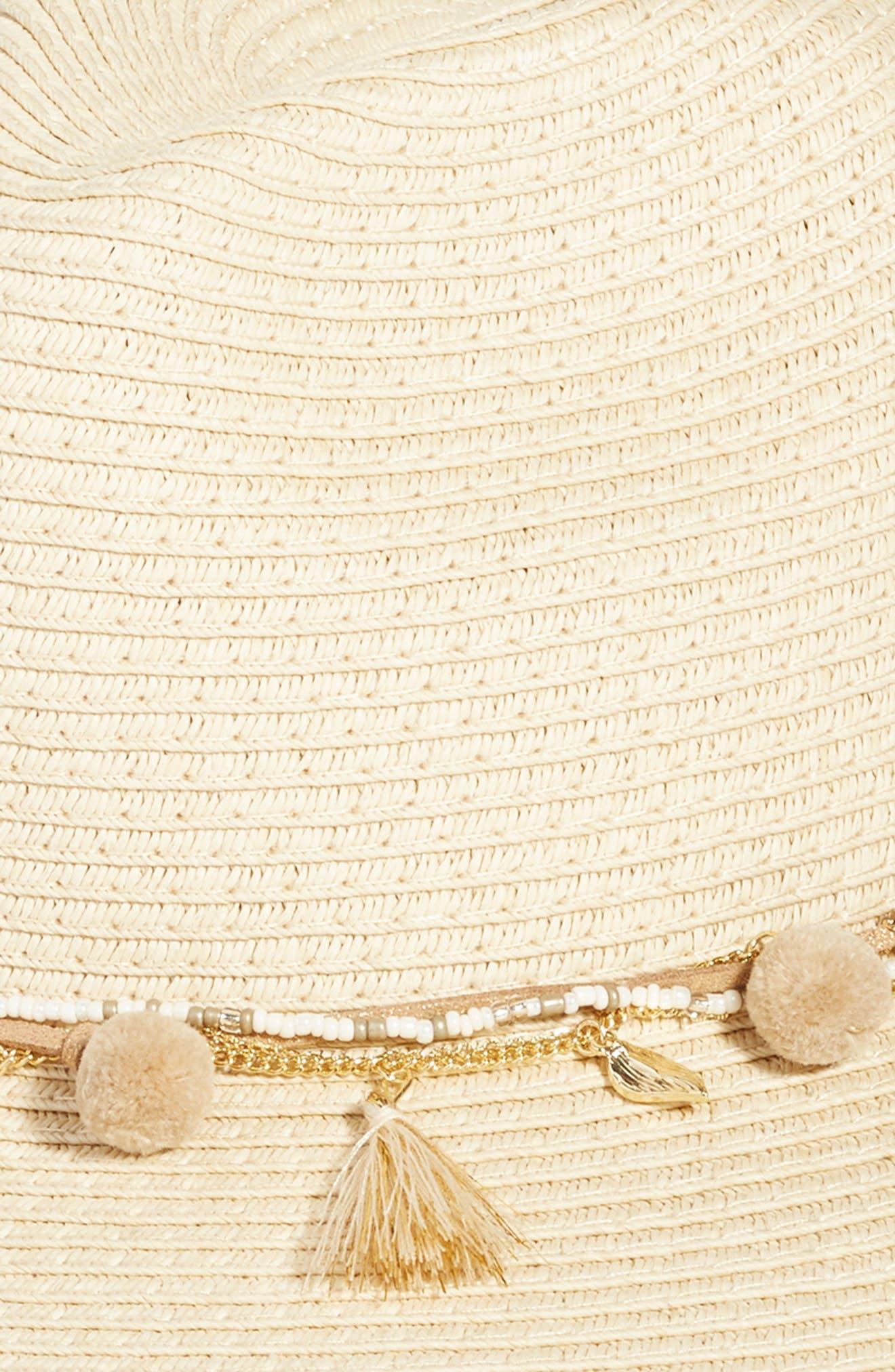 Corella Panama Hat,                             Alternate thumbnail 2, color,                             White