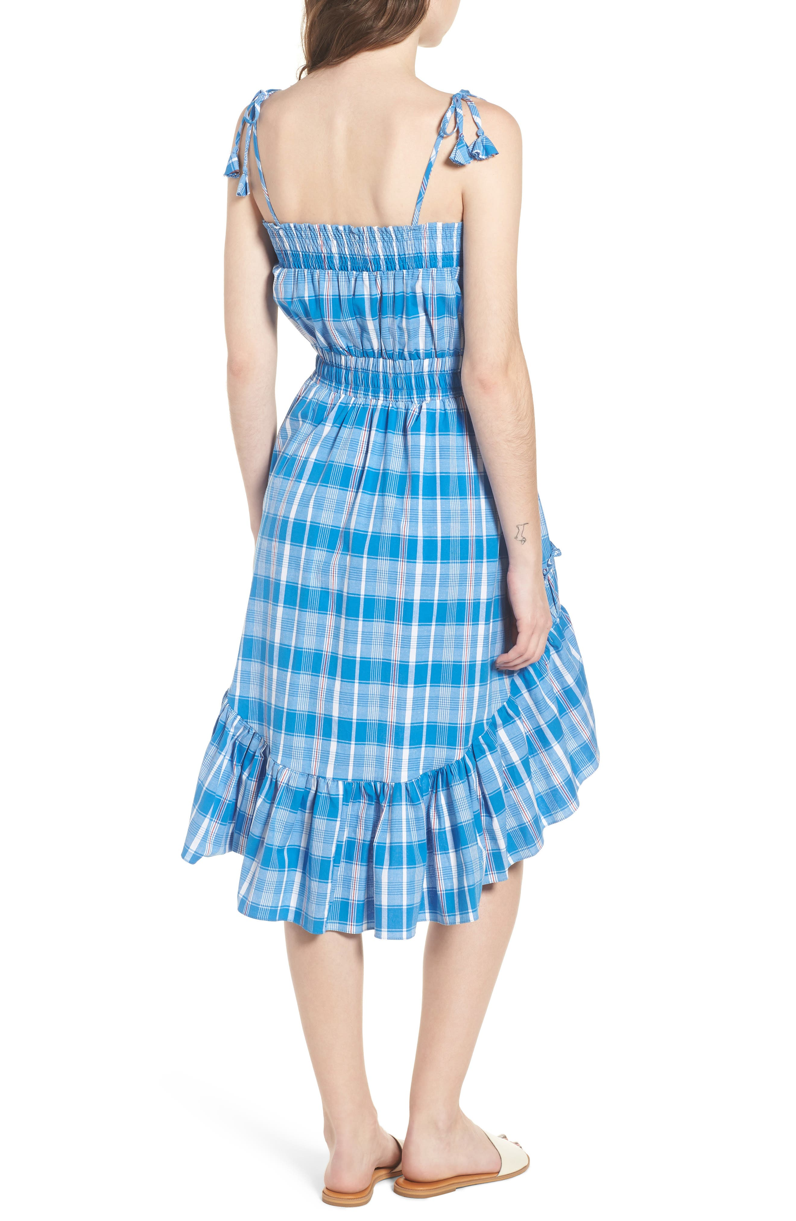 Fernanda High/Low Dress,                             Alternate thumbnail 2, color,                             Blue Fe1