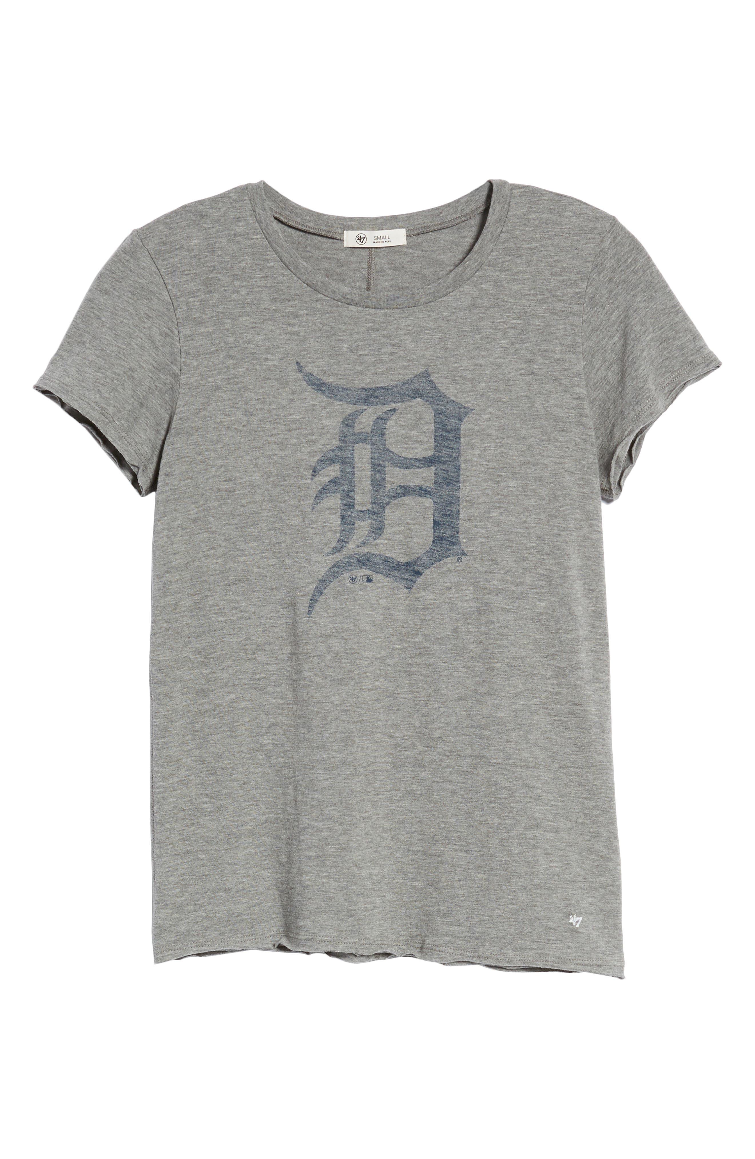 Detroit Tigers Fader Letter Tee,                             Alternate thumbnail 7, color,                             Slate Grey