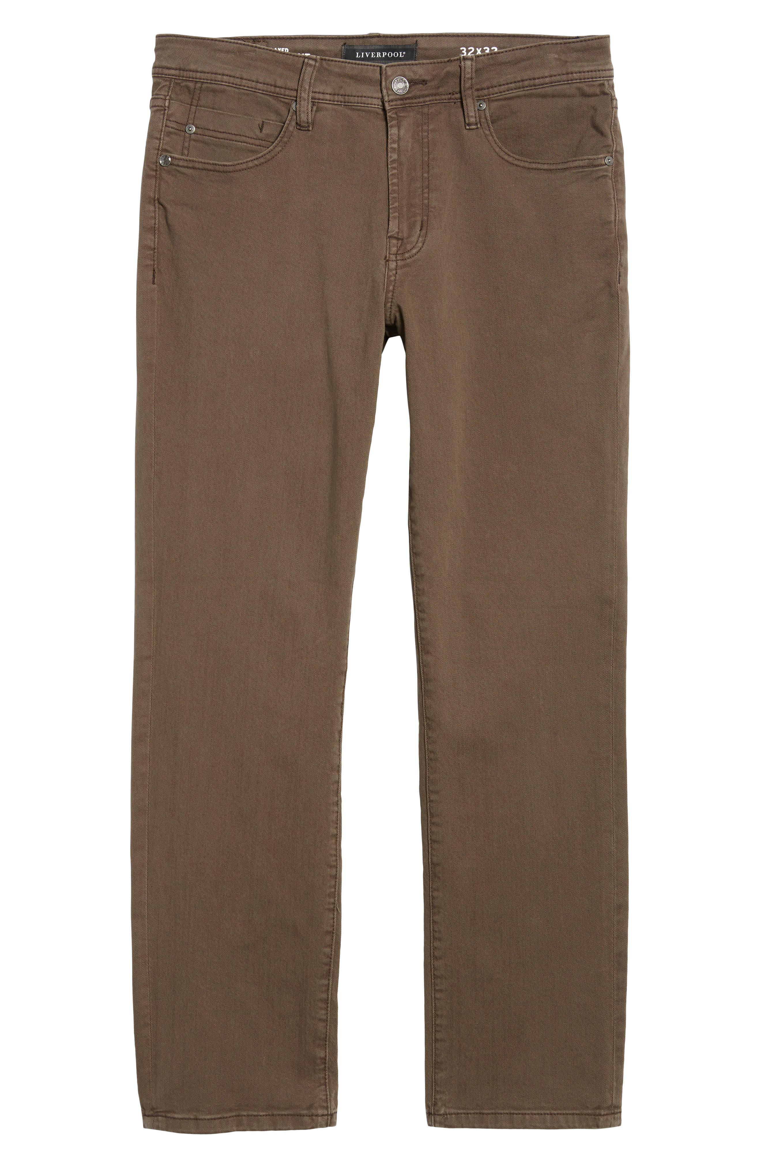 Jeans Co. Regent Relaxed Fit Jeans,                             Alternate thumbnail 6, color,                             Tobacco Leaf