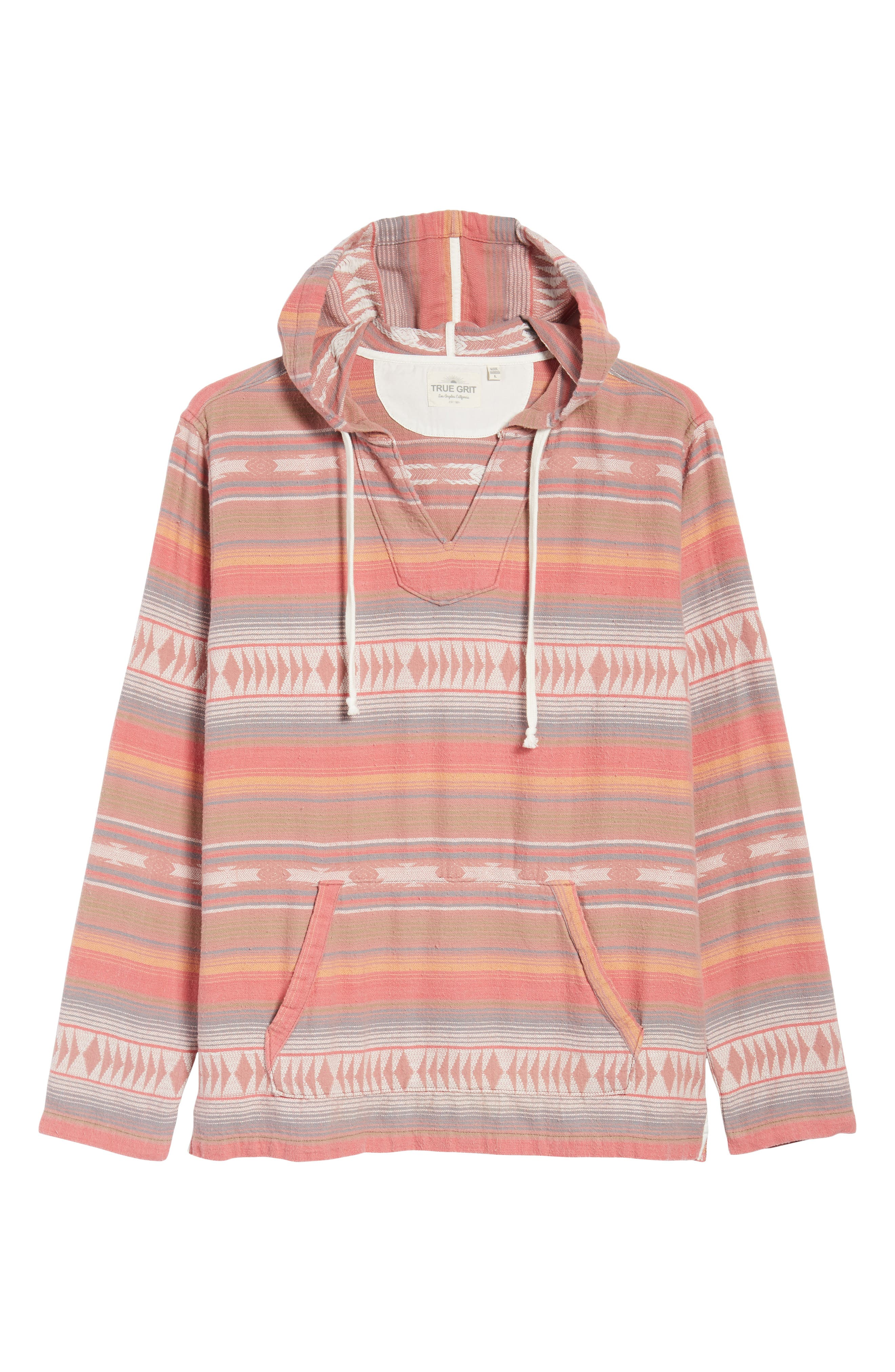 Baja Poncho Hoodie,                             Alternate thumbnail 6, color,                             Faded Red