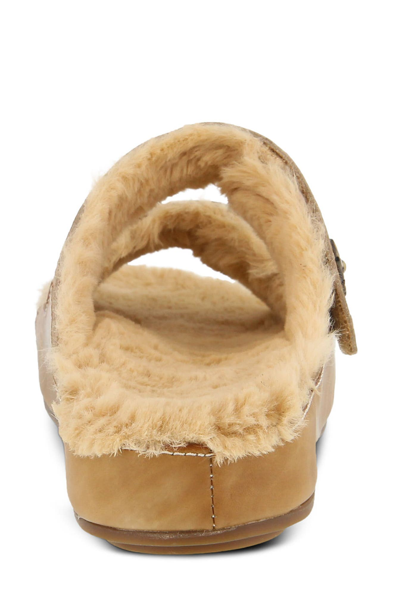 L'Artiste Furrie Sandal,                             Alternate thumbnail 4, color,                             Beige Leather