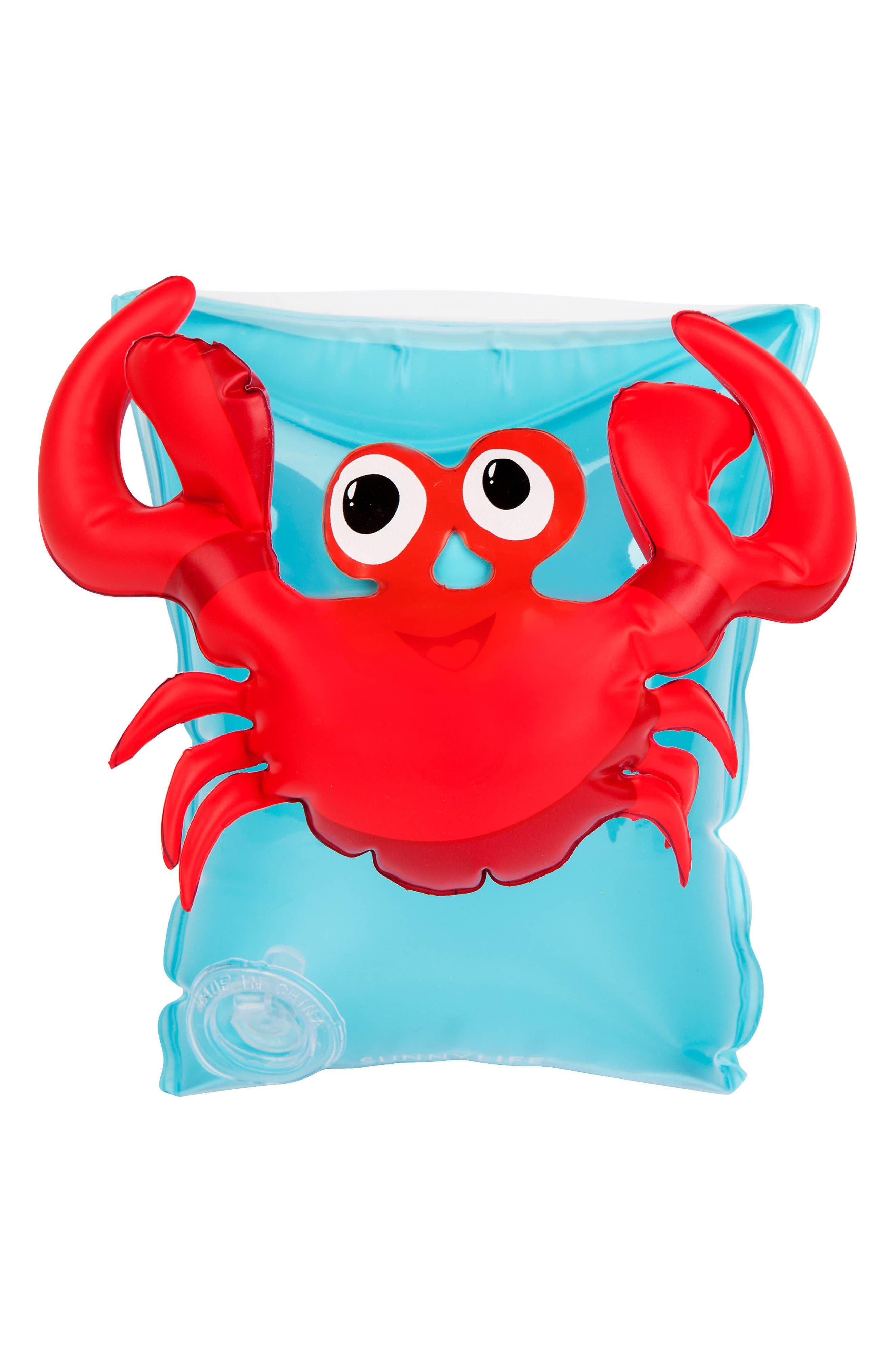 Alternate Image 3  - Sunnylife Set of 2 Crabby Armband Floaties