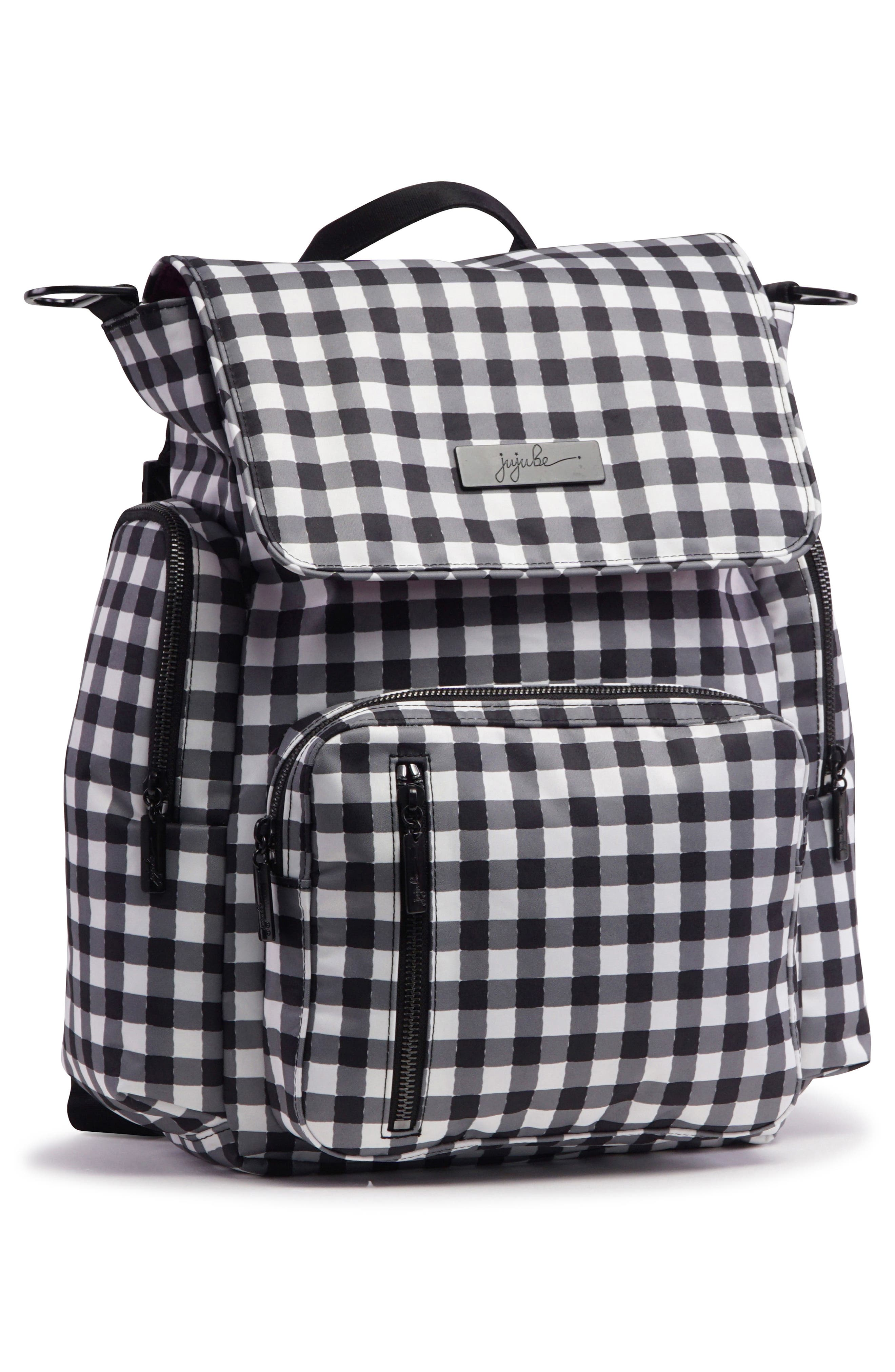 Onyx Be Sporty Diaper Backpack,                             Alternate thumbnail 3, color,                             Gingham Style