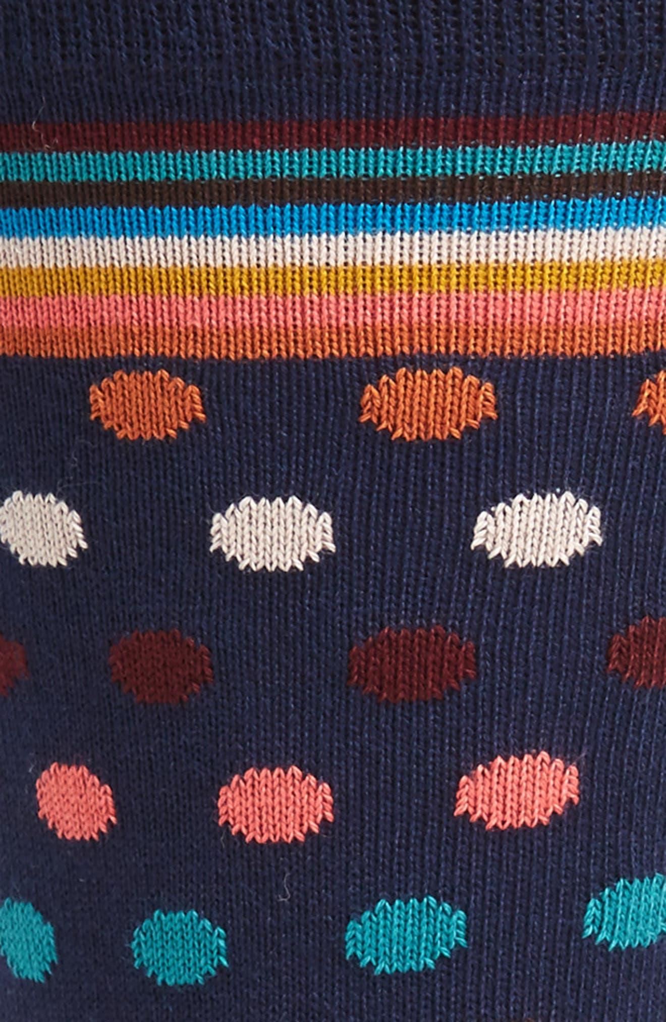 Artist Dot Socks,                             Alternate thumbnail 2, color,                             Blue