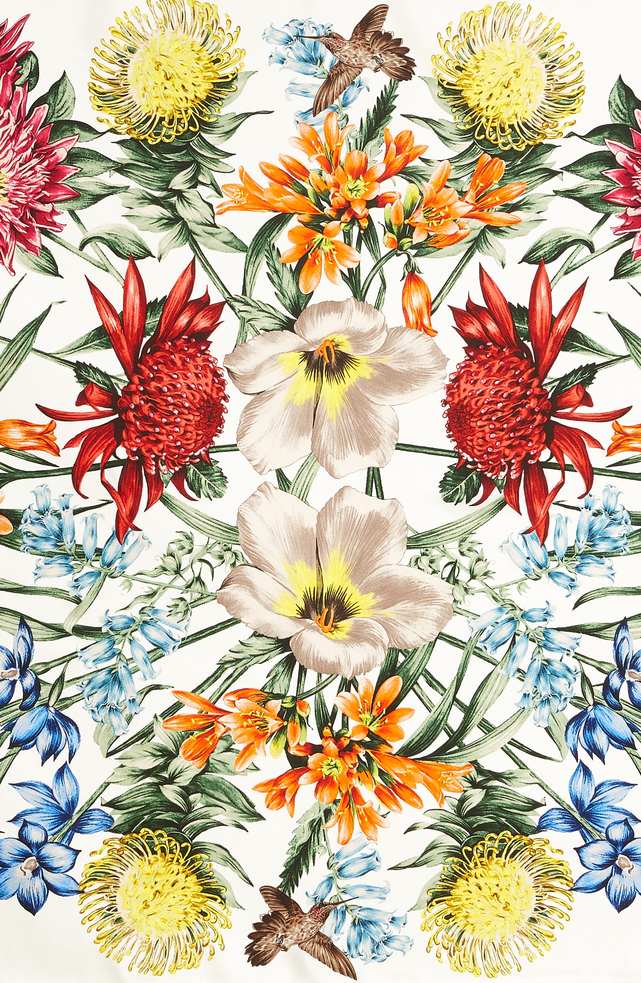 Alternate Image 4  - Echo Blooms of Oceania Square Silk Scarf