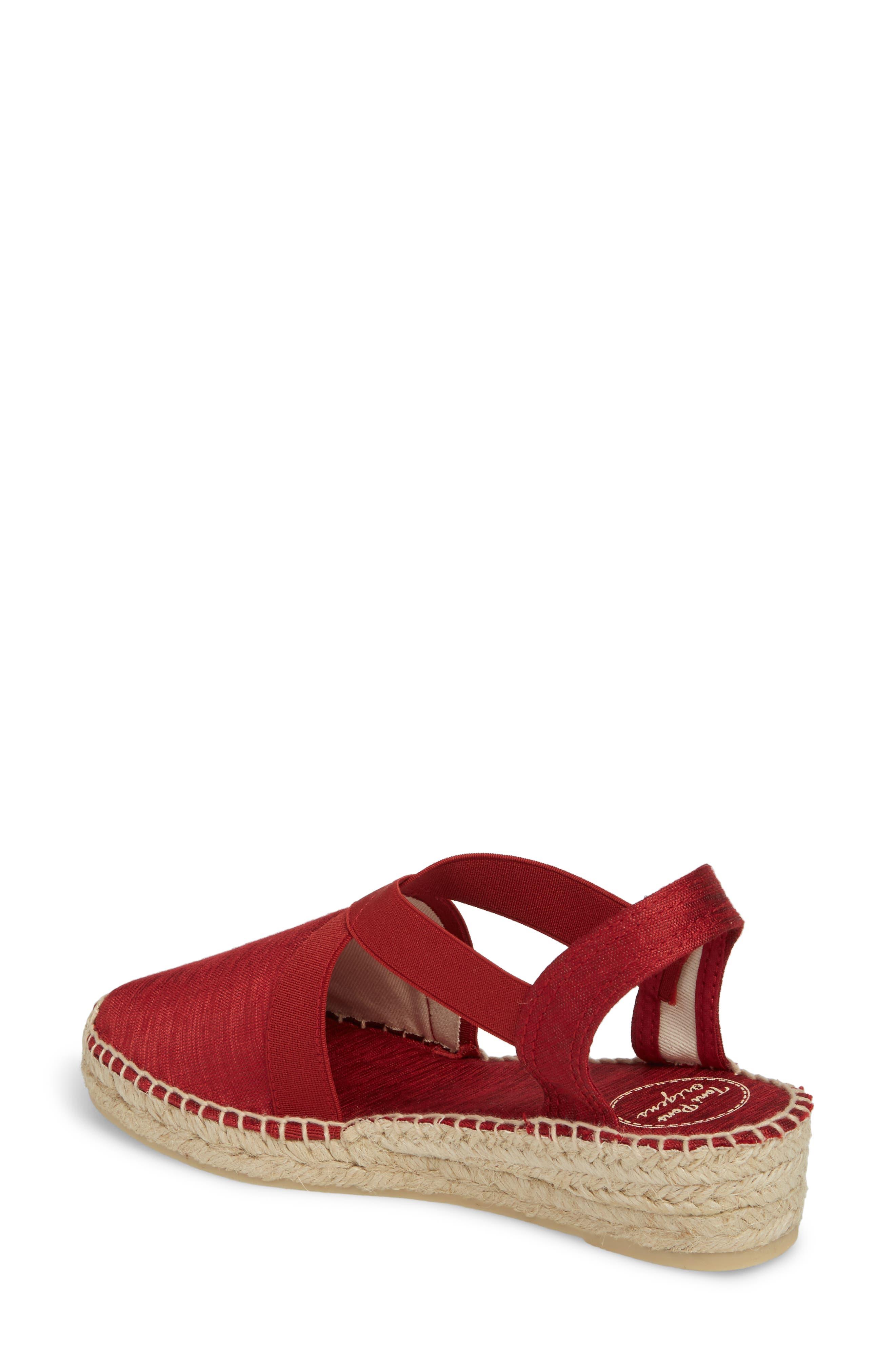 'Vic' Espadrille Slingback Sandal,                             Alternate thumbnail 2, color,                             Red Fabric