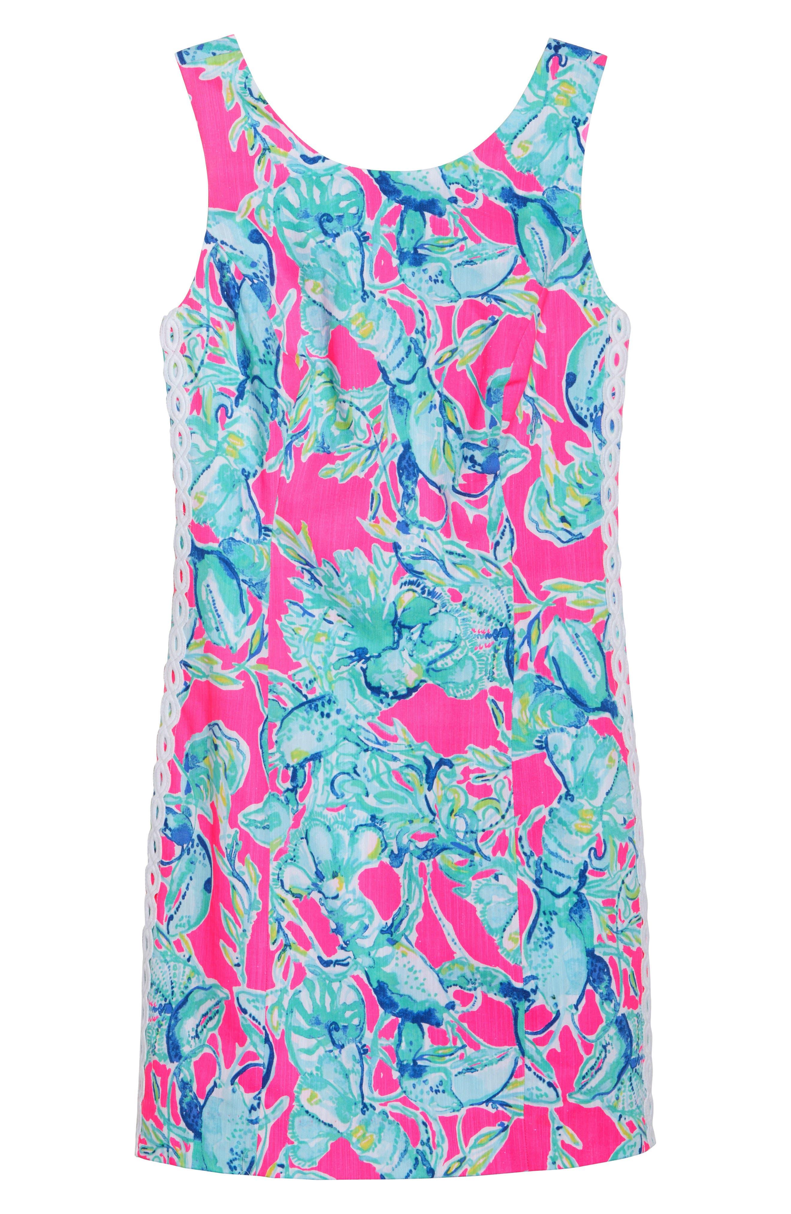 Mila Sheath Dress,                             Alternate thumbnail 7, color,                             Raz Berry Lobsters In Love