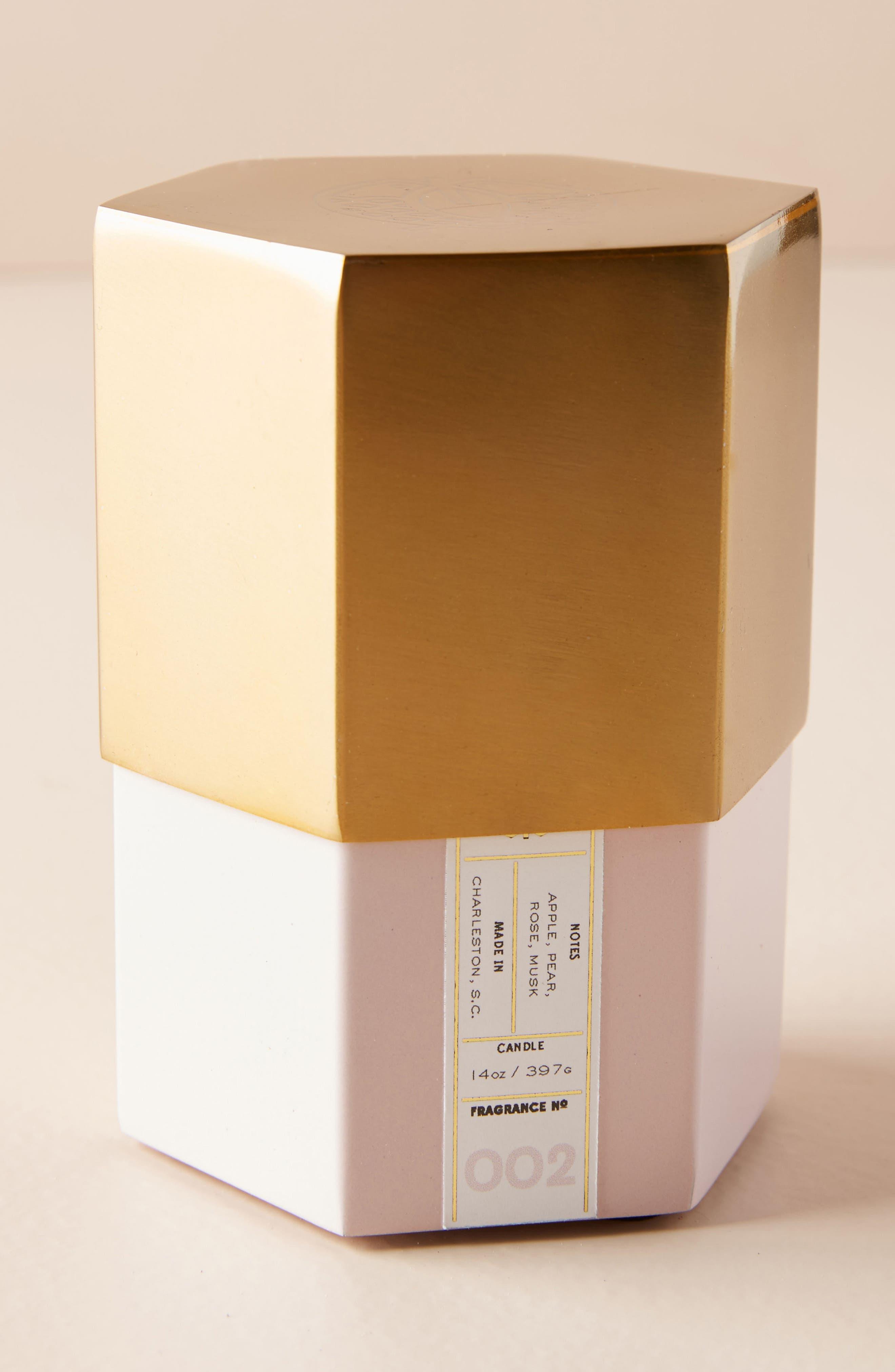 Candlefish Hexagonal Candle,                         Main,                         color, Apple Blossom/ Tart Pear/ Rose
