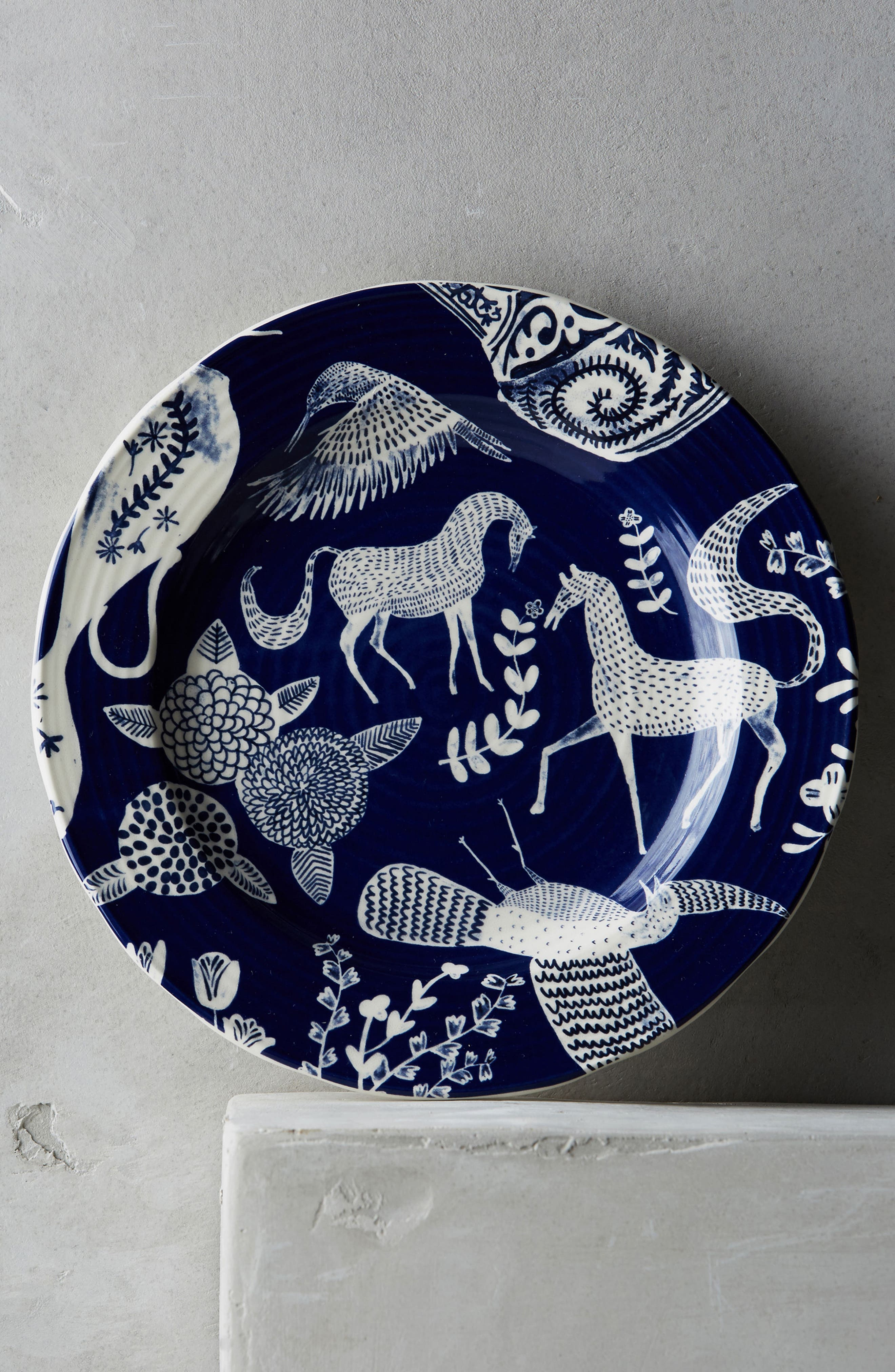 Saga Ceramic Side Plate,                         Main,                         color, Dark Blue
