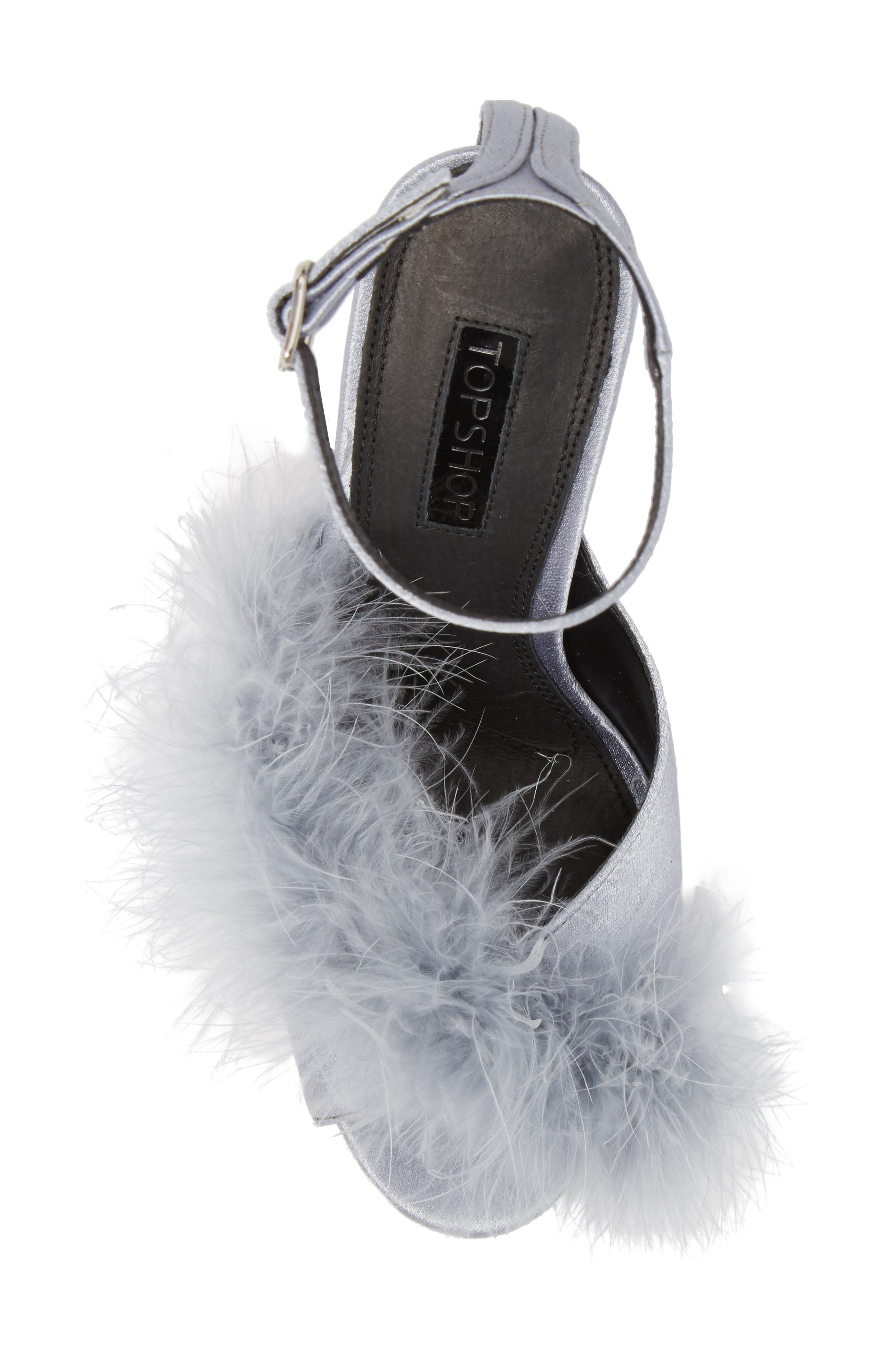 Roar Feather Sandal,                             Alternate thumbnail 5, color,                             Grey