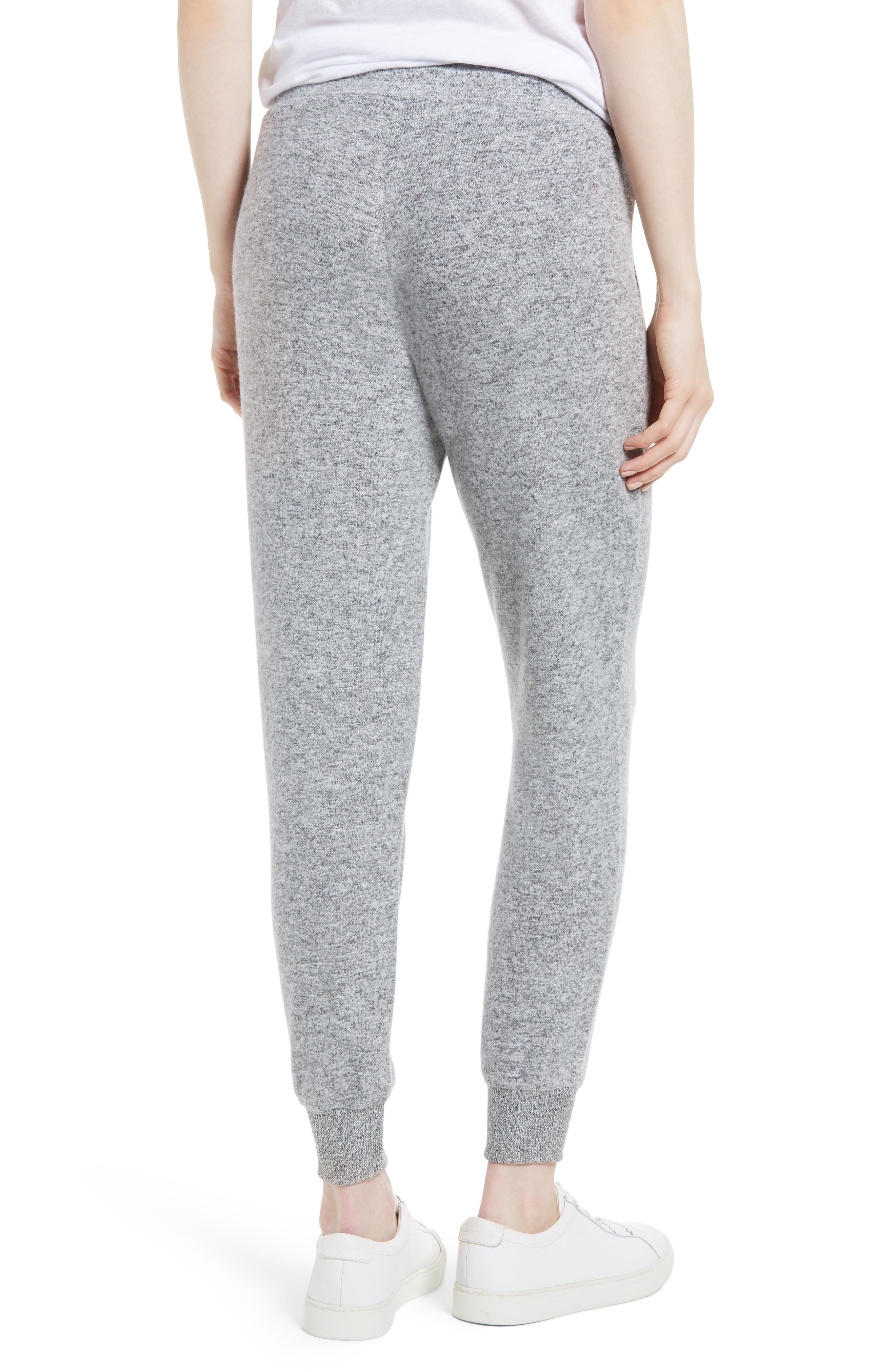 x Living in Yellow Skye Cozy Jogger Pants,                             Alternate thumbnail 3, color,                             Heather Grey