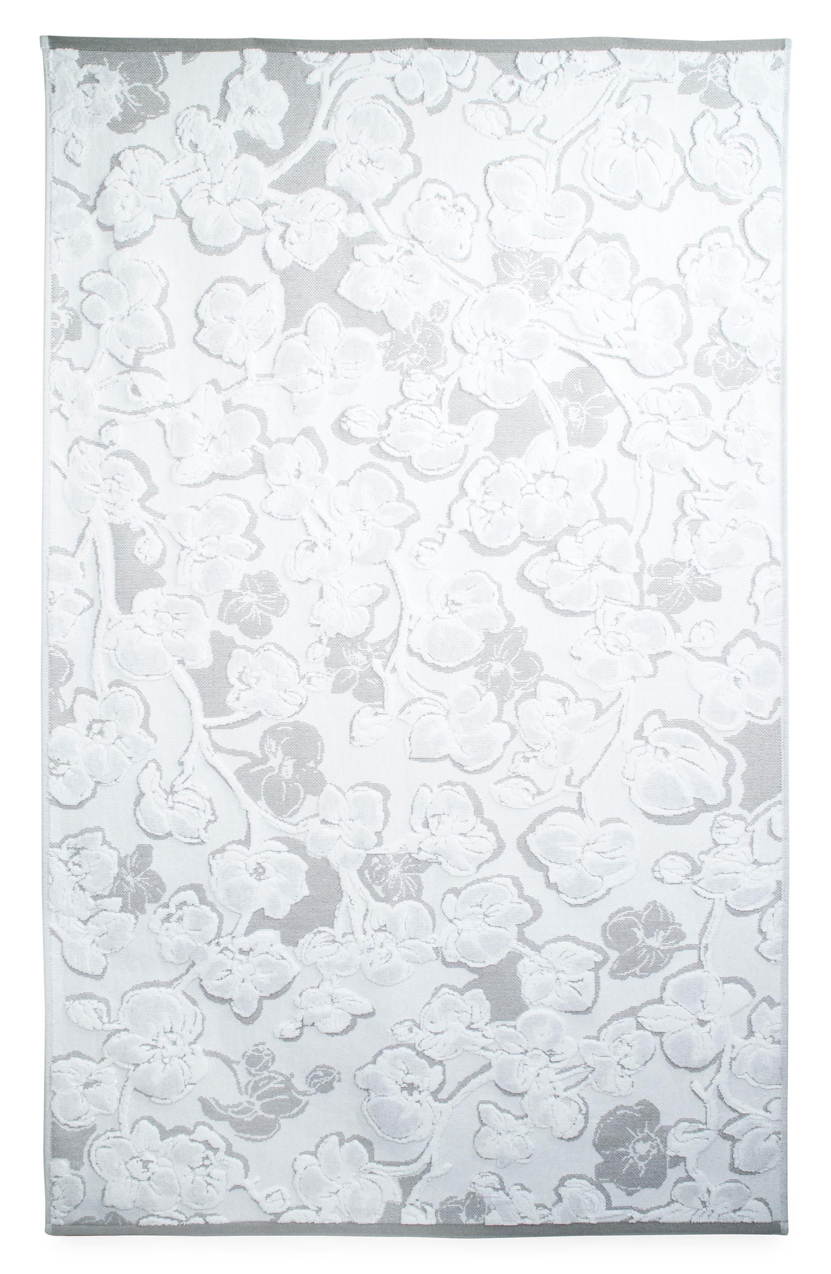 Orchid Bath Towel,                         Main,                         color, Grey
