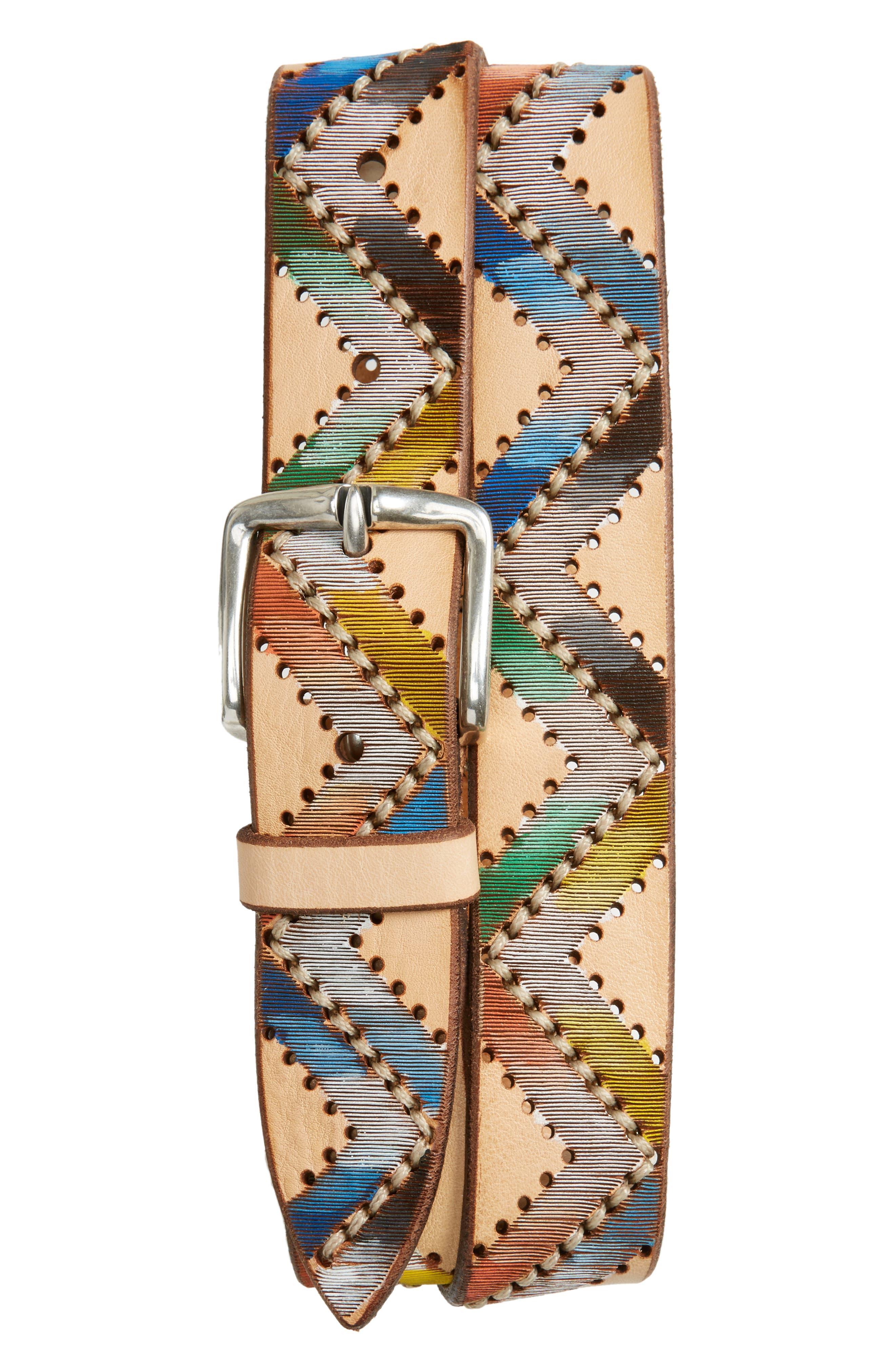 Embellished Leather Belt,                         Main,                         color, Unique