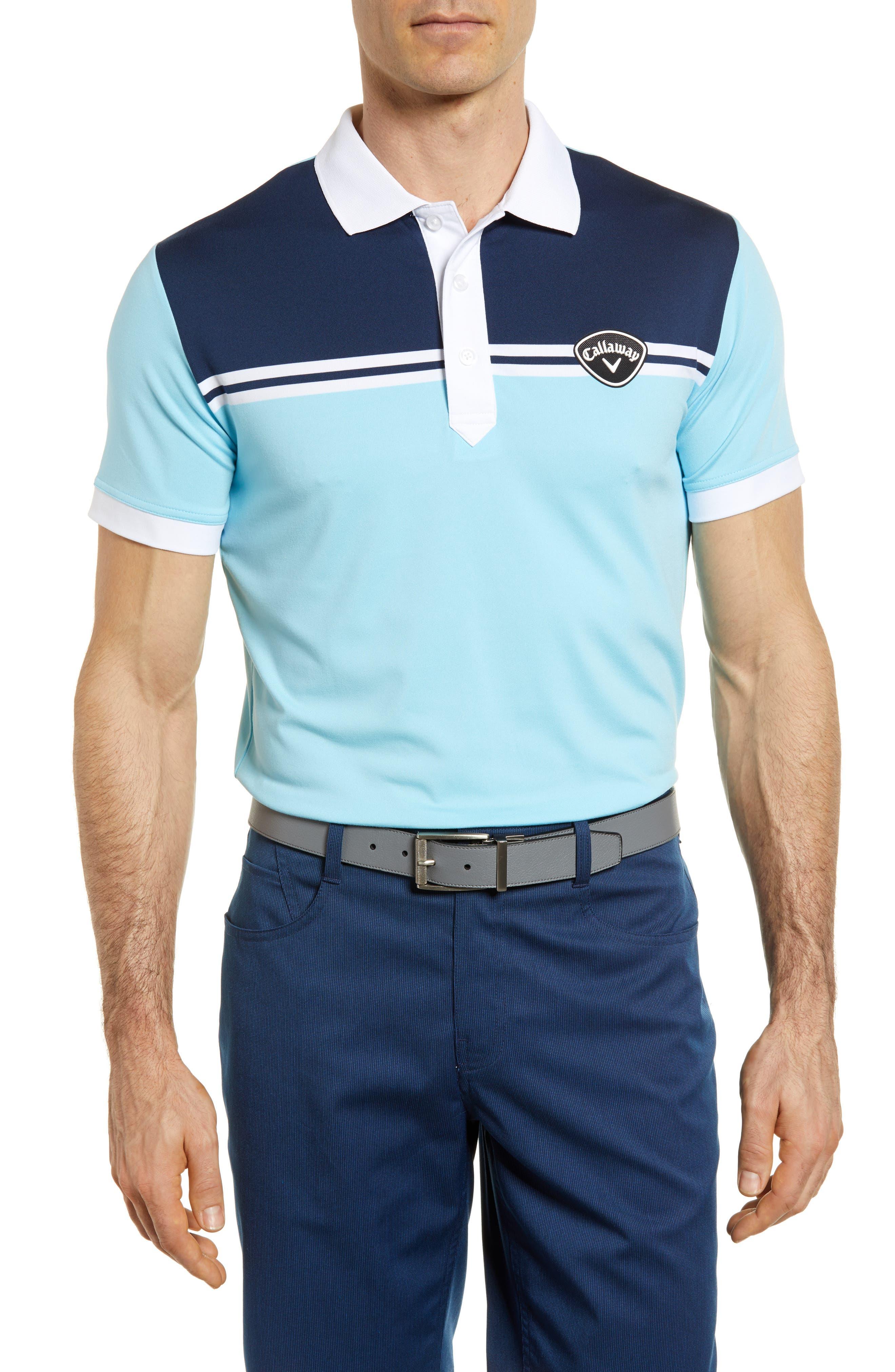 Slim Fit Colorblock Polo,                         Main,                         color, Petit Four