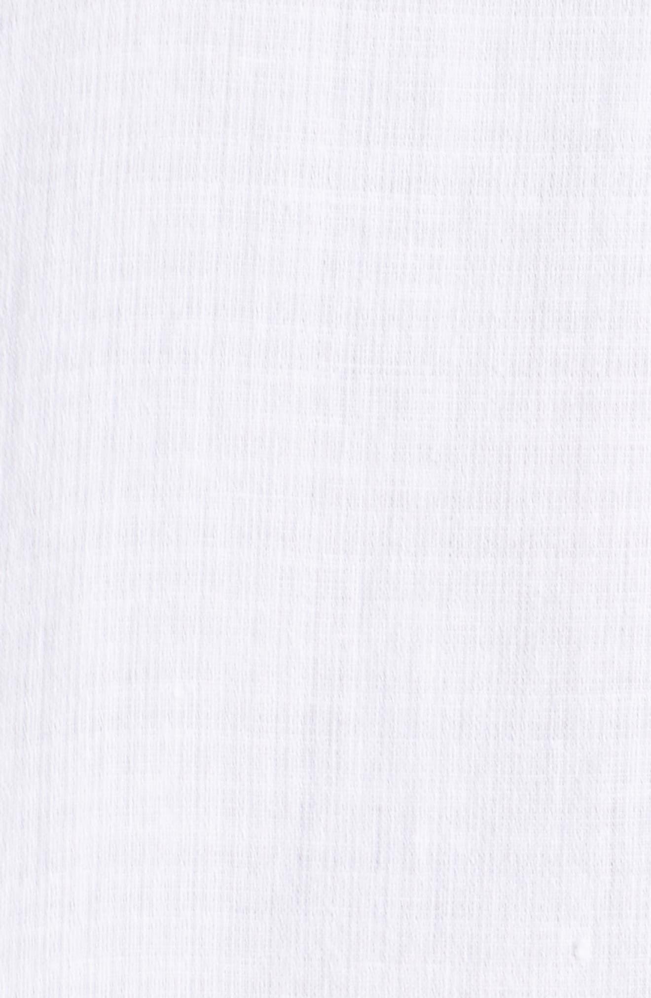 Linen Blend Shift Dress,                             Alternate thumbnail 5, color,                             White