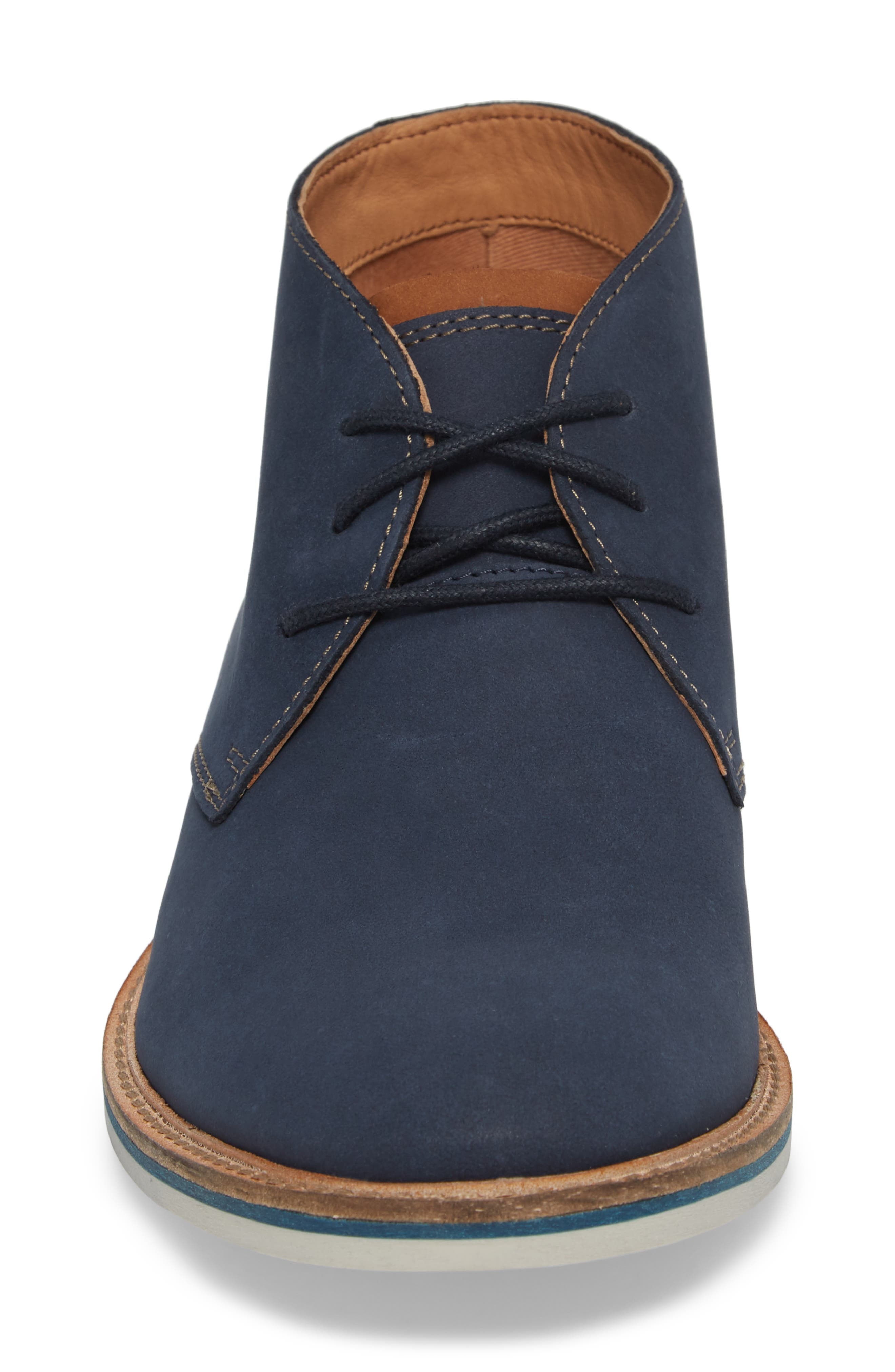 Clarks<sup>®</sup> Atticus Limit Chukka Boot,                             Alternate thumbnail 4, color,                             Navy Nubuck