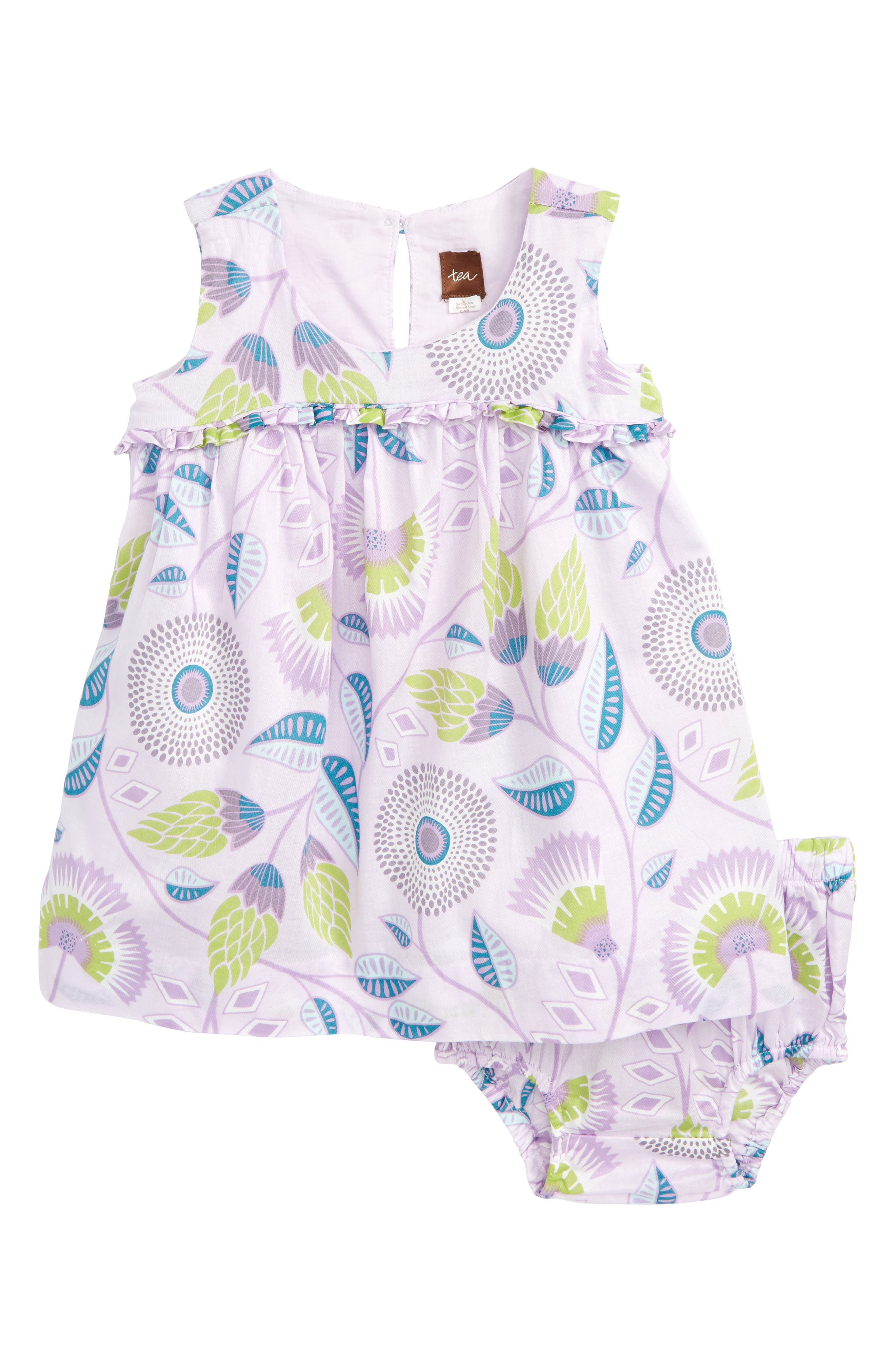Tea Collection Blooming Floral High/Low Dress (Baby Girls)