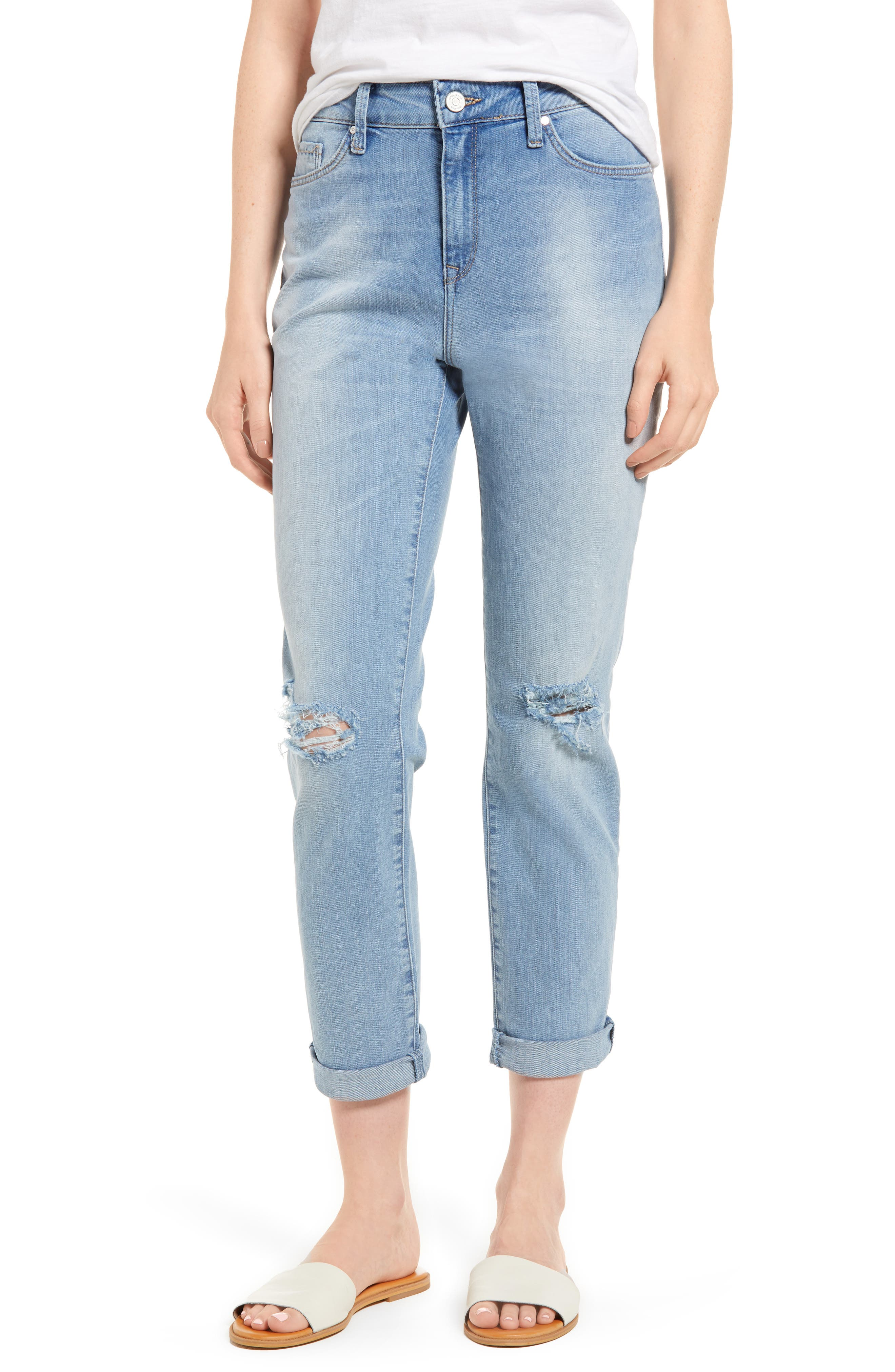 Lea Boyfriend Ripped Jeans,                             Main thumbnail 1, color,                             Light Ripped Vintage