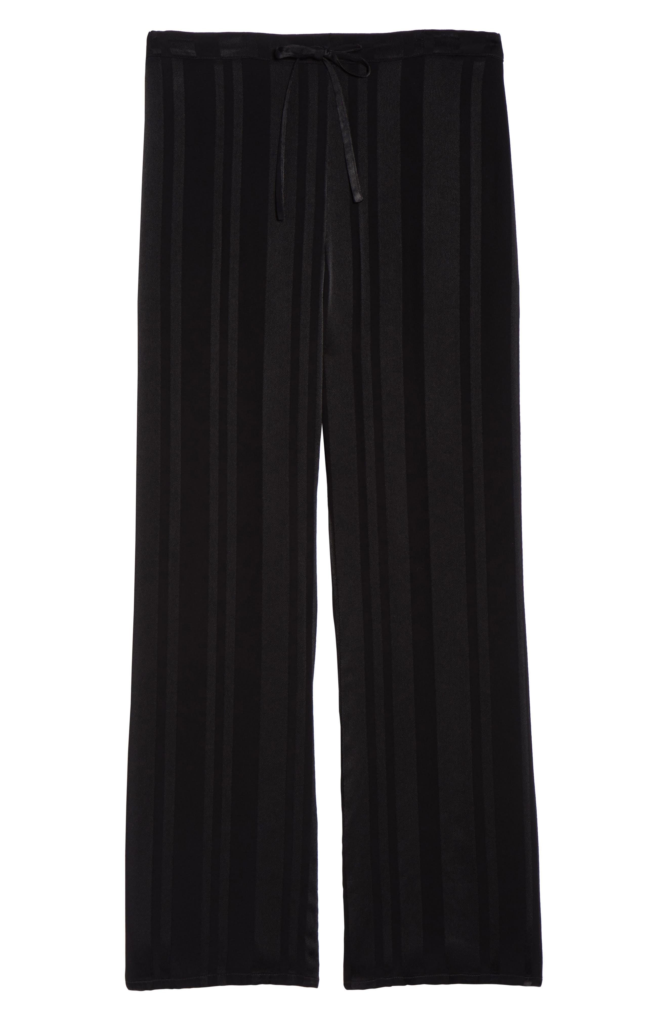 Vela Stripe Lounge Pants,                             Alternate thumbnail 4, color,                             Tar