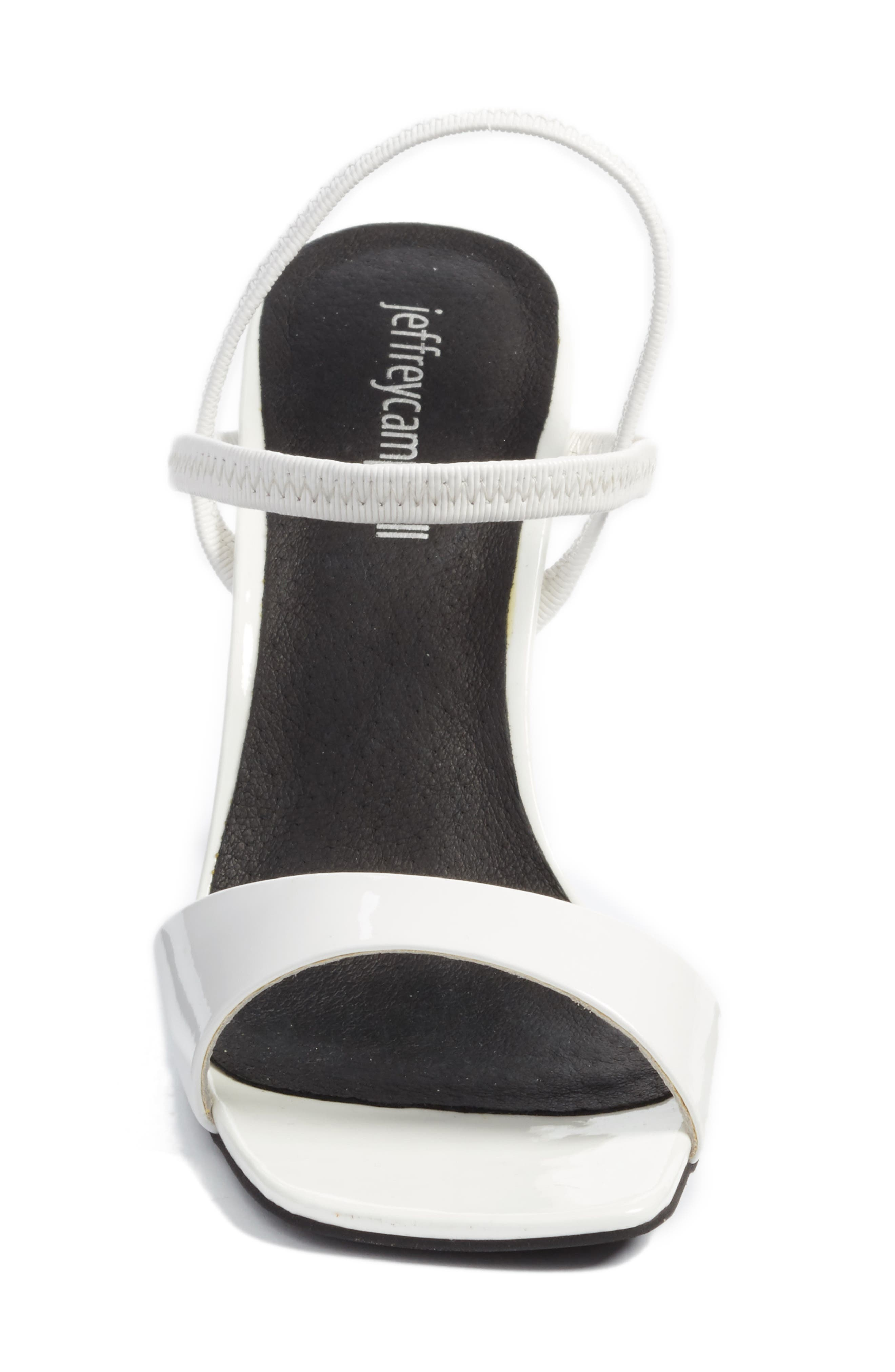 Carine Sandal,                             Alternate thumbnail 5, color,                             White Patent/ Clear