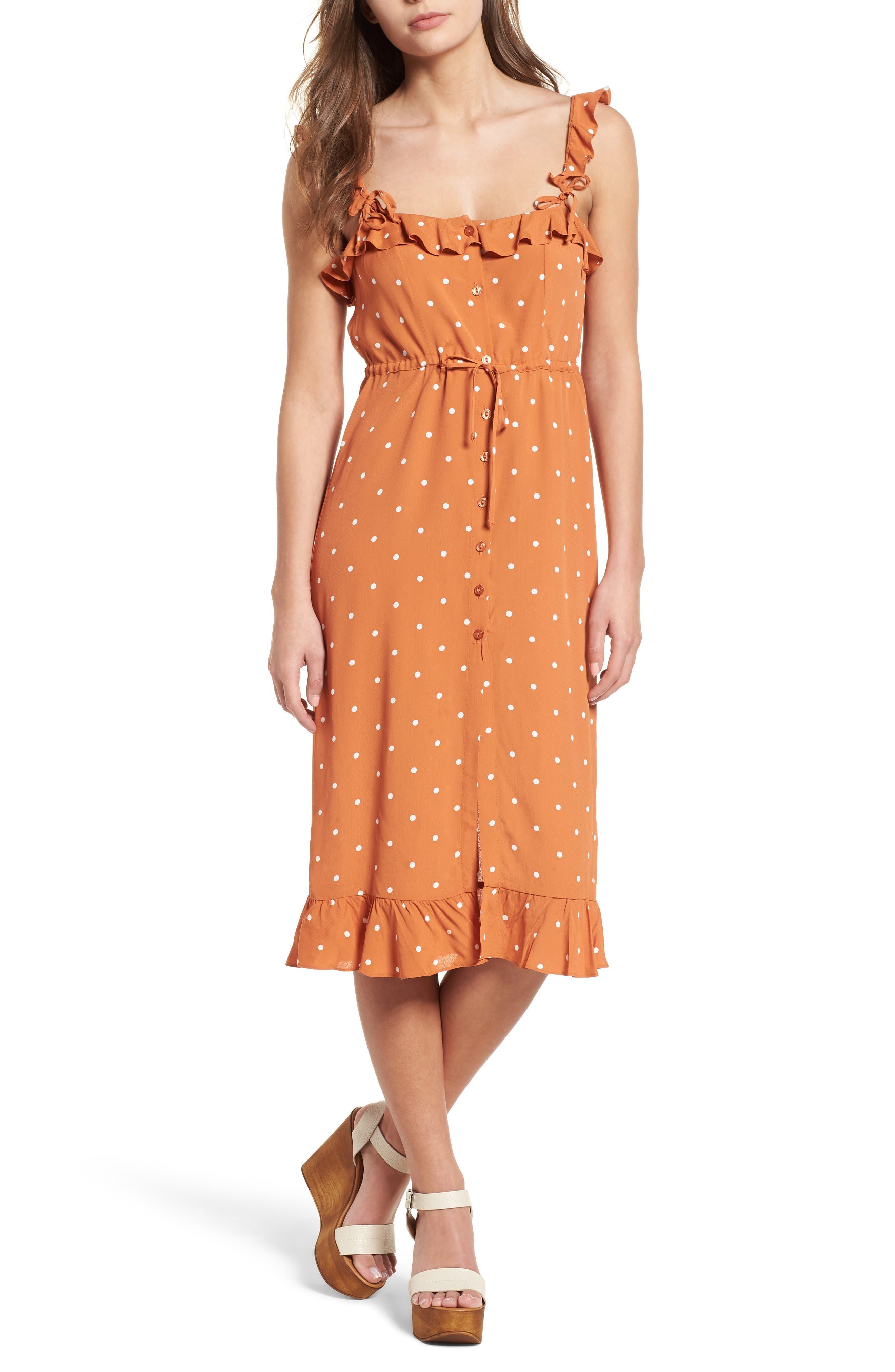 For Love & Lemons Natalia Midi Dress