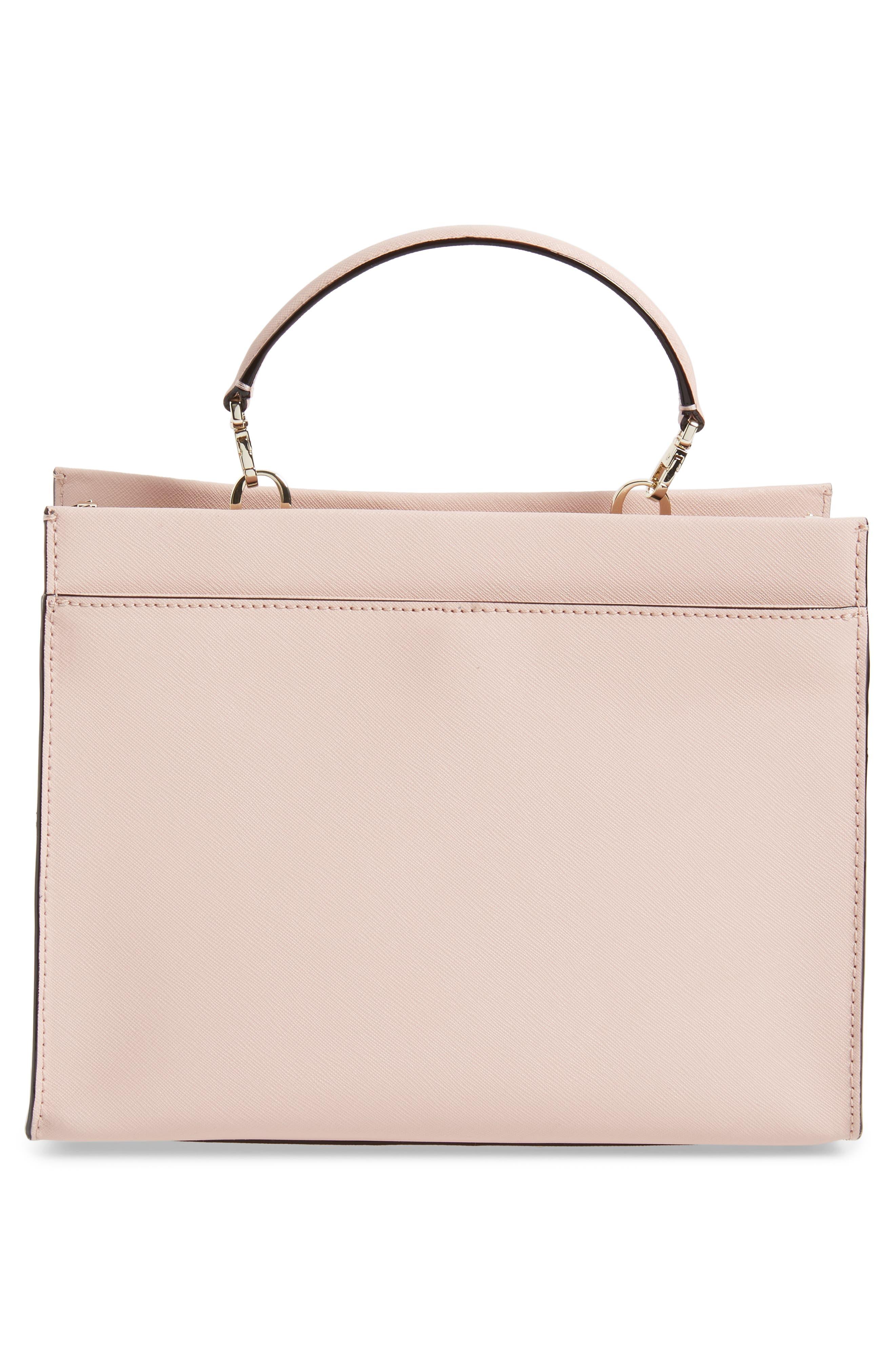 cameron street - sara leather satchel,                             Alternate thumbnail 3, color,                             Warm Vellum