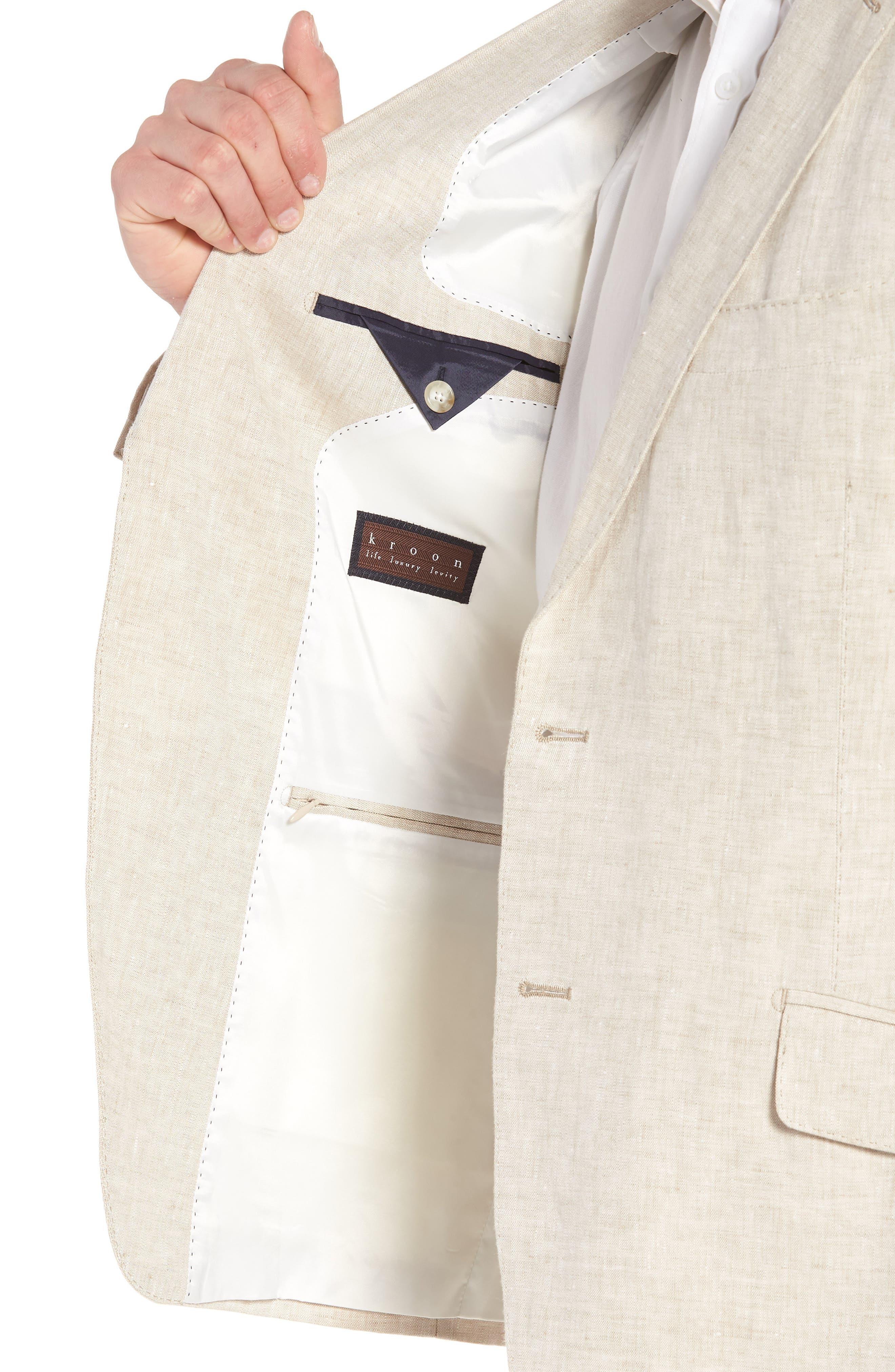 Jack AIM Classic Fit Linen Blazer,                             Alternate thumbnail 4, color,                             Natural