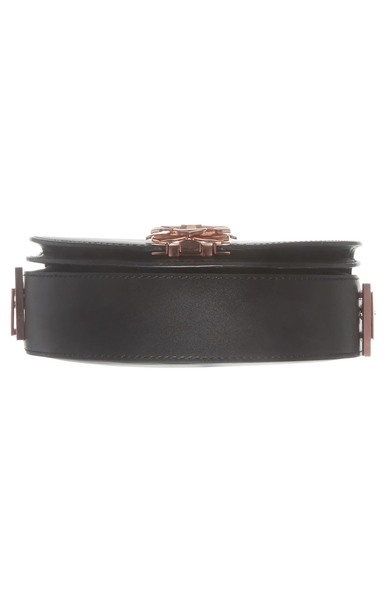 Roslyn Leather Crossbody Bag,                             Alternate thumbnail 6, color,                             Black