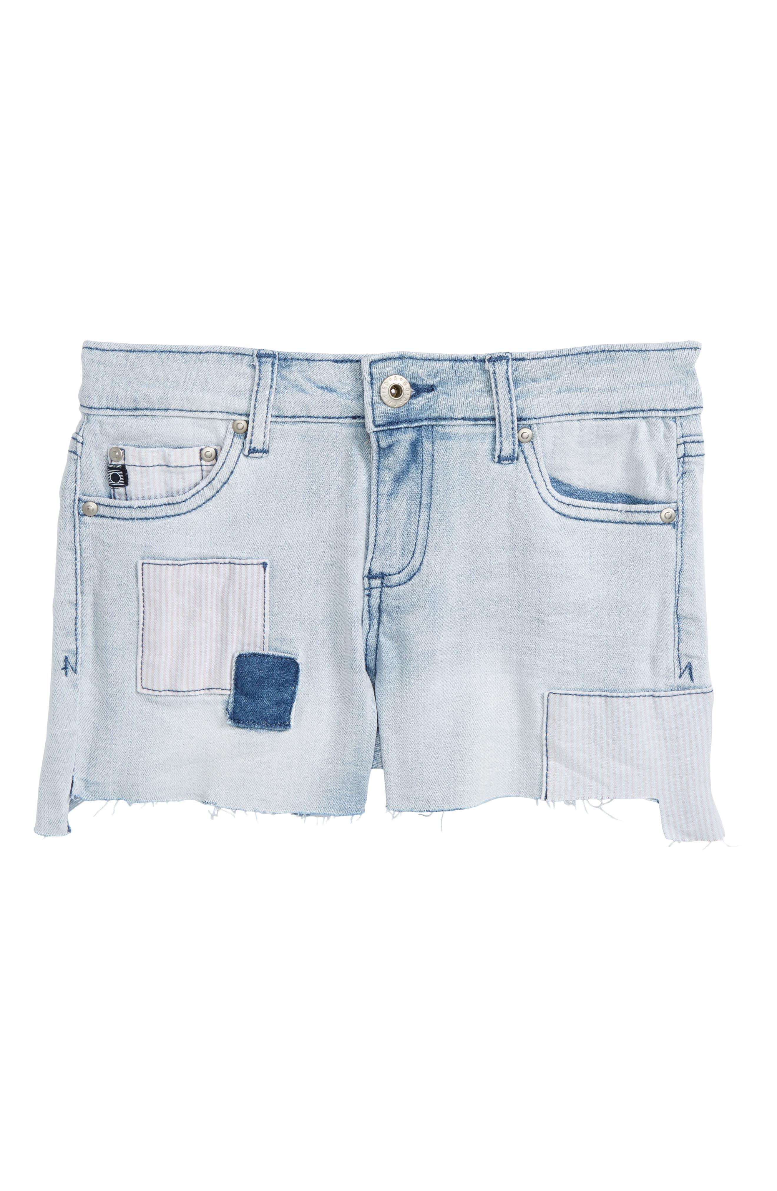 ag adriano goldschmied kids The Tarni Patch Cutoff Denim Shorts (Big Girls)