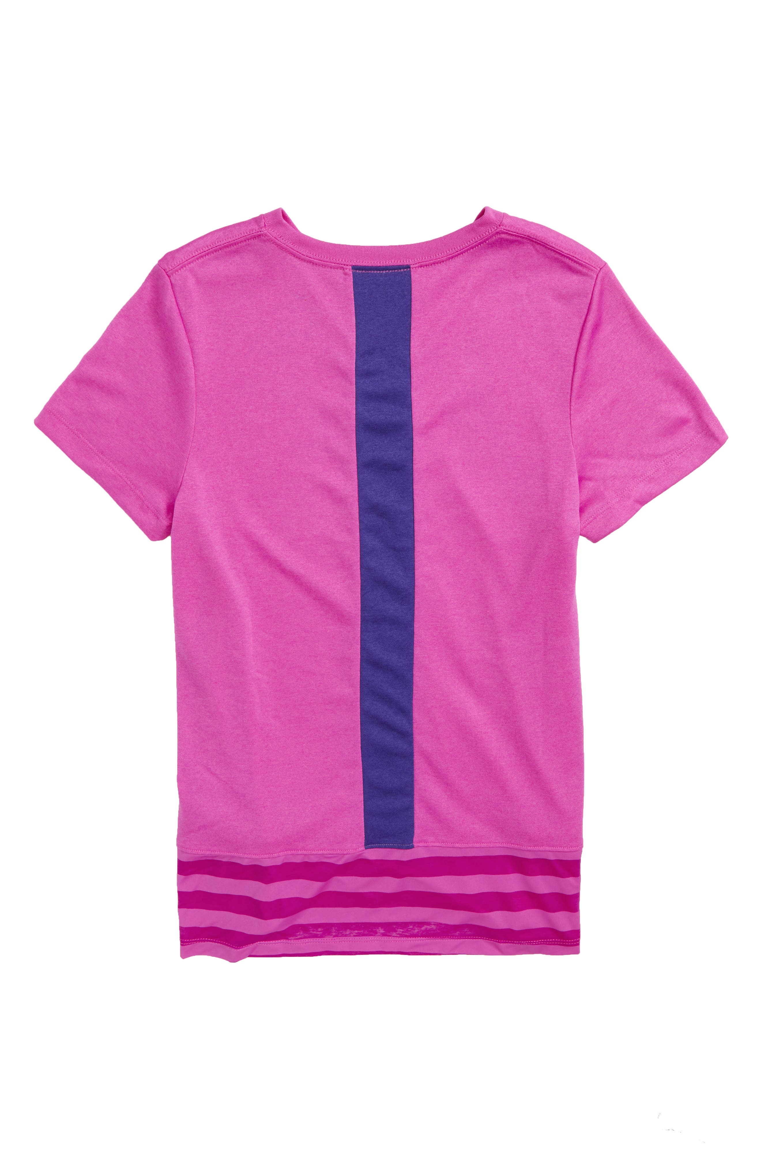 Dry Logo Graphic Tee,                             Alternate thumbnail 2, color,                             Hyper Magenta/ Fusion Violet