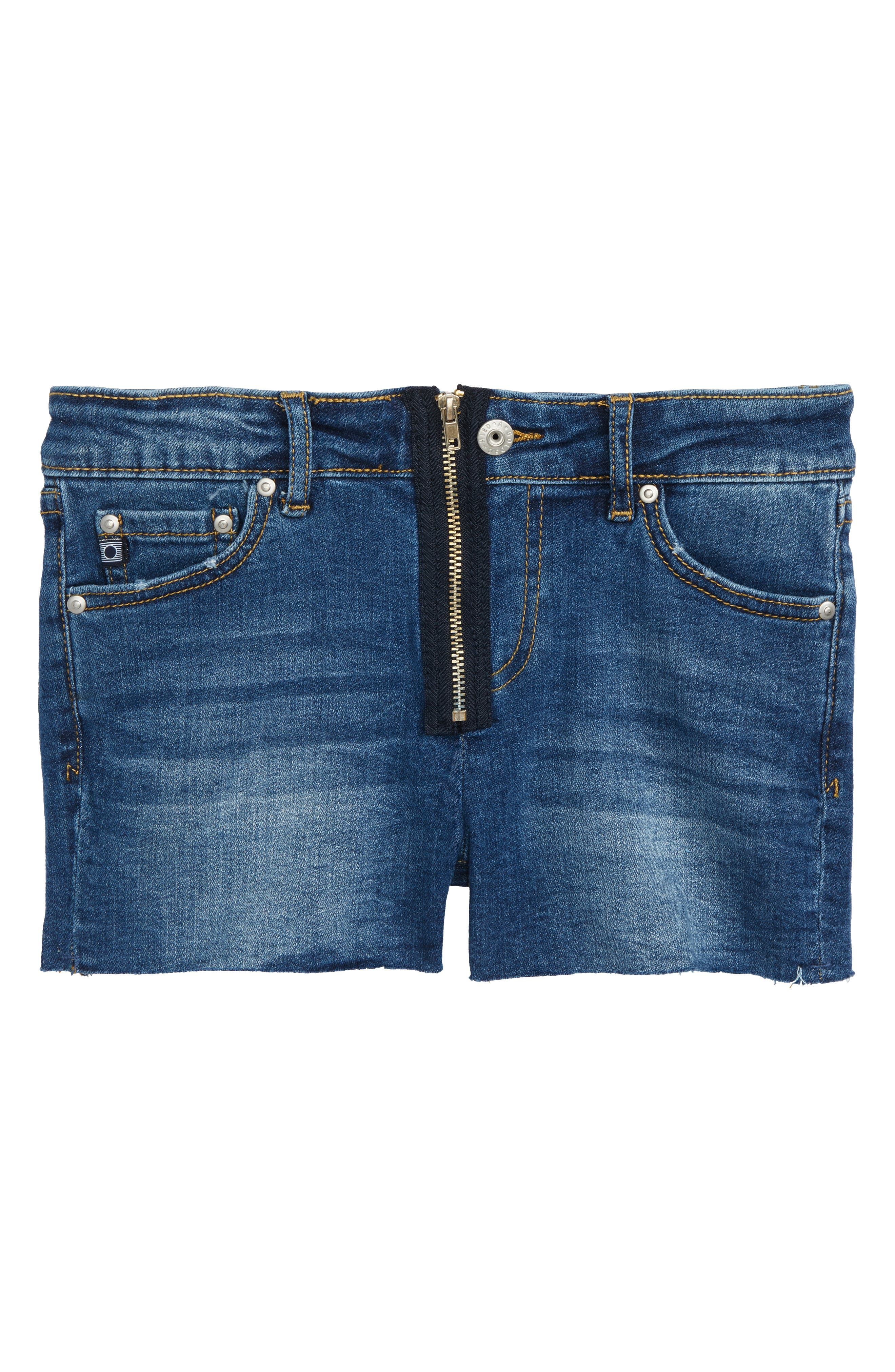 Main Image - ag adriano goldschmied kids The Bruna Cutoff Denim Shorts (Big Girls)