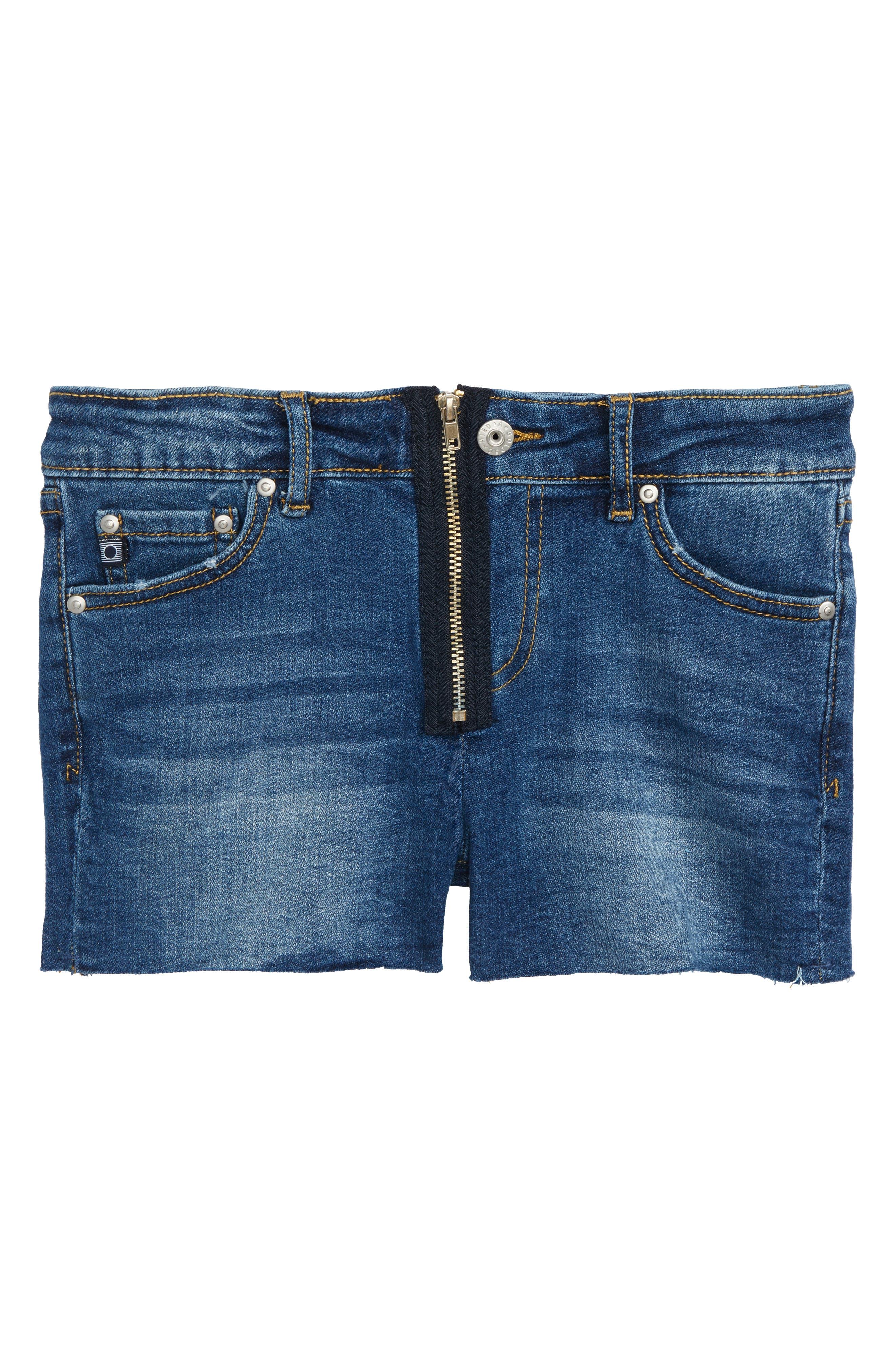 The Bruna Cutoff Denim Shorts,                         Main,                         color, Moroccan Blue