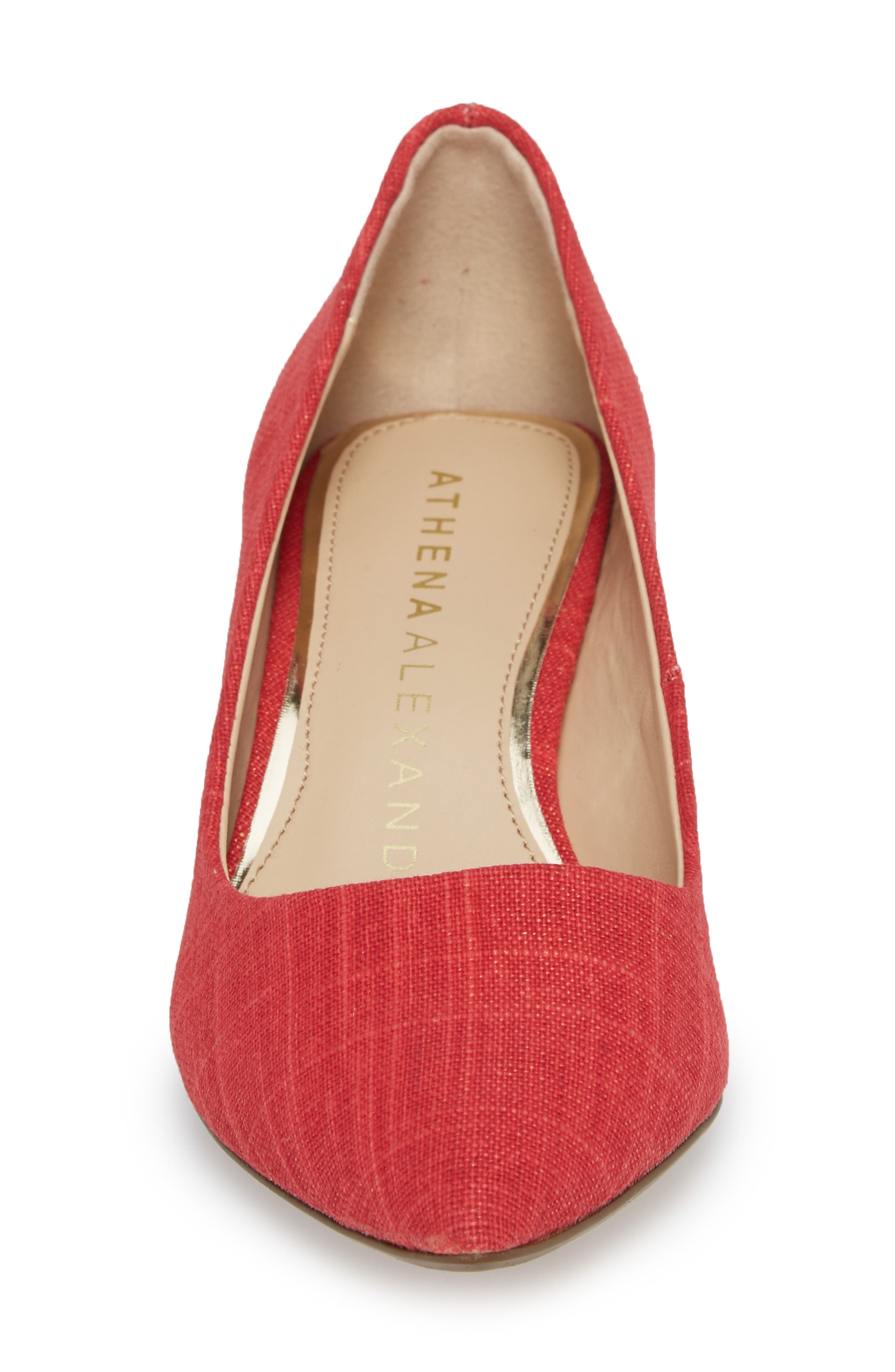Target Kitten Heel Pump,                             Alternate thumbnail 4, color,                             Red Fabric