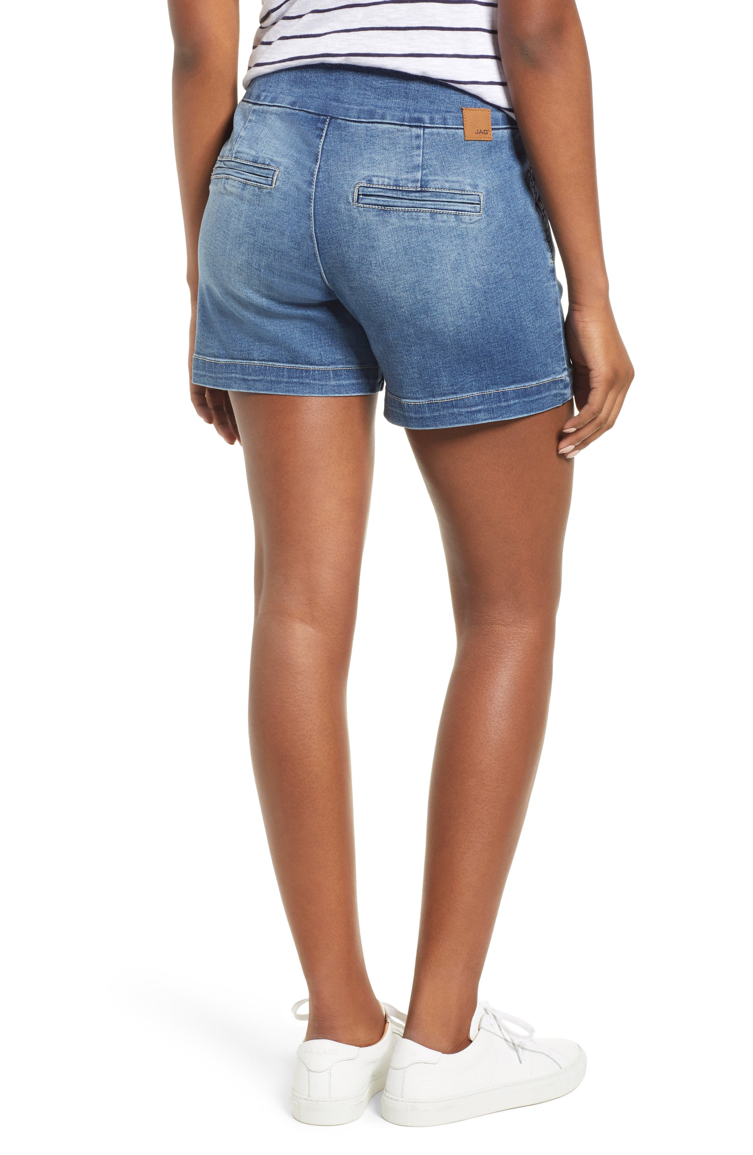 Ainsley 5 Denim Shorts,                             Alternate thumbnail 2, color,                             Med Indigo
