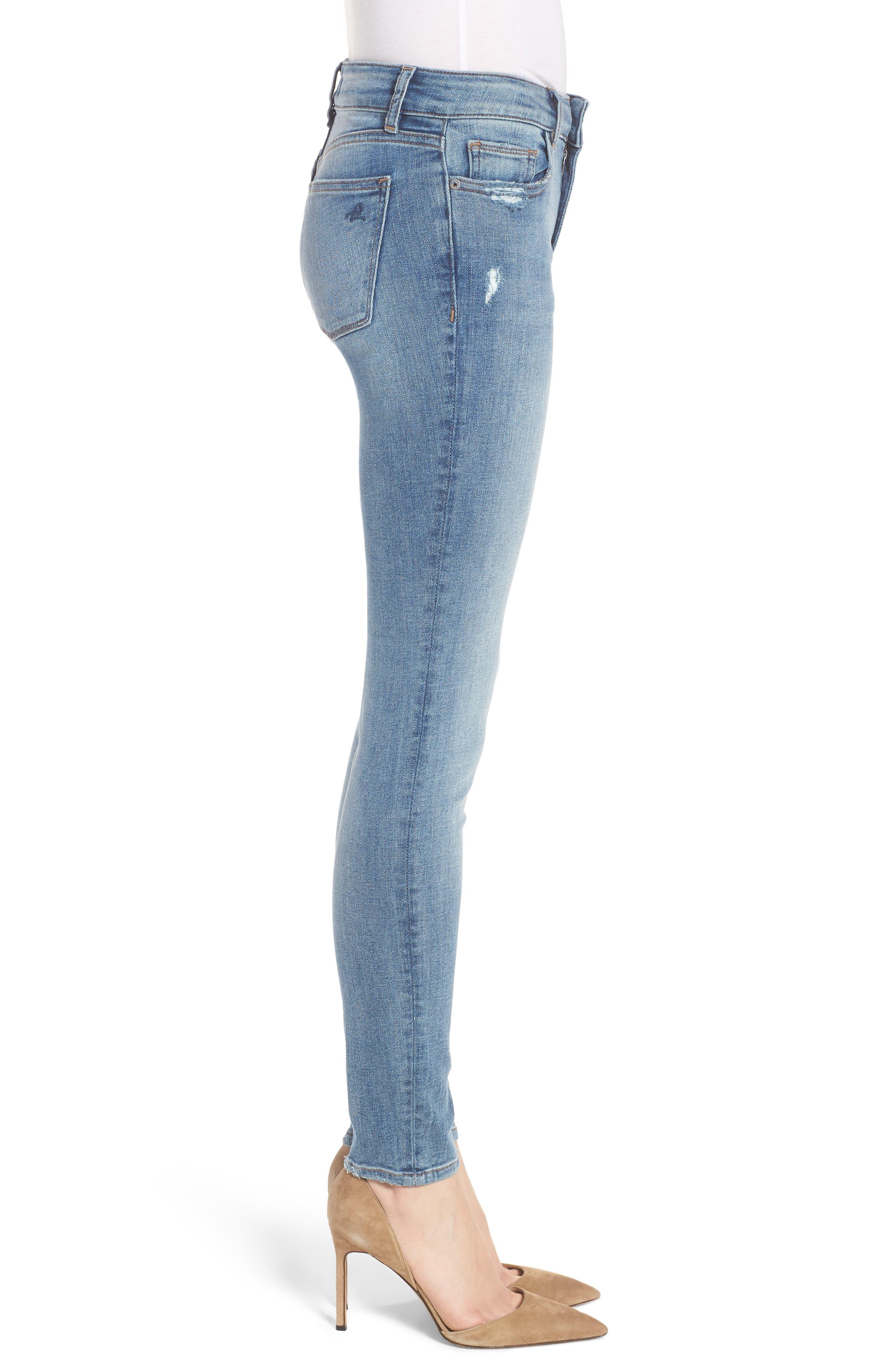 Florence Instasculpt Skinny Jeans,                             Alternate thumbnail 3, color,                             Delano