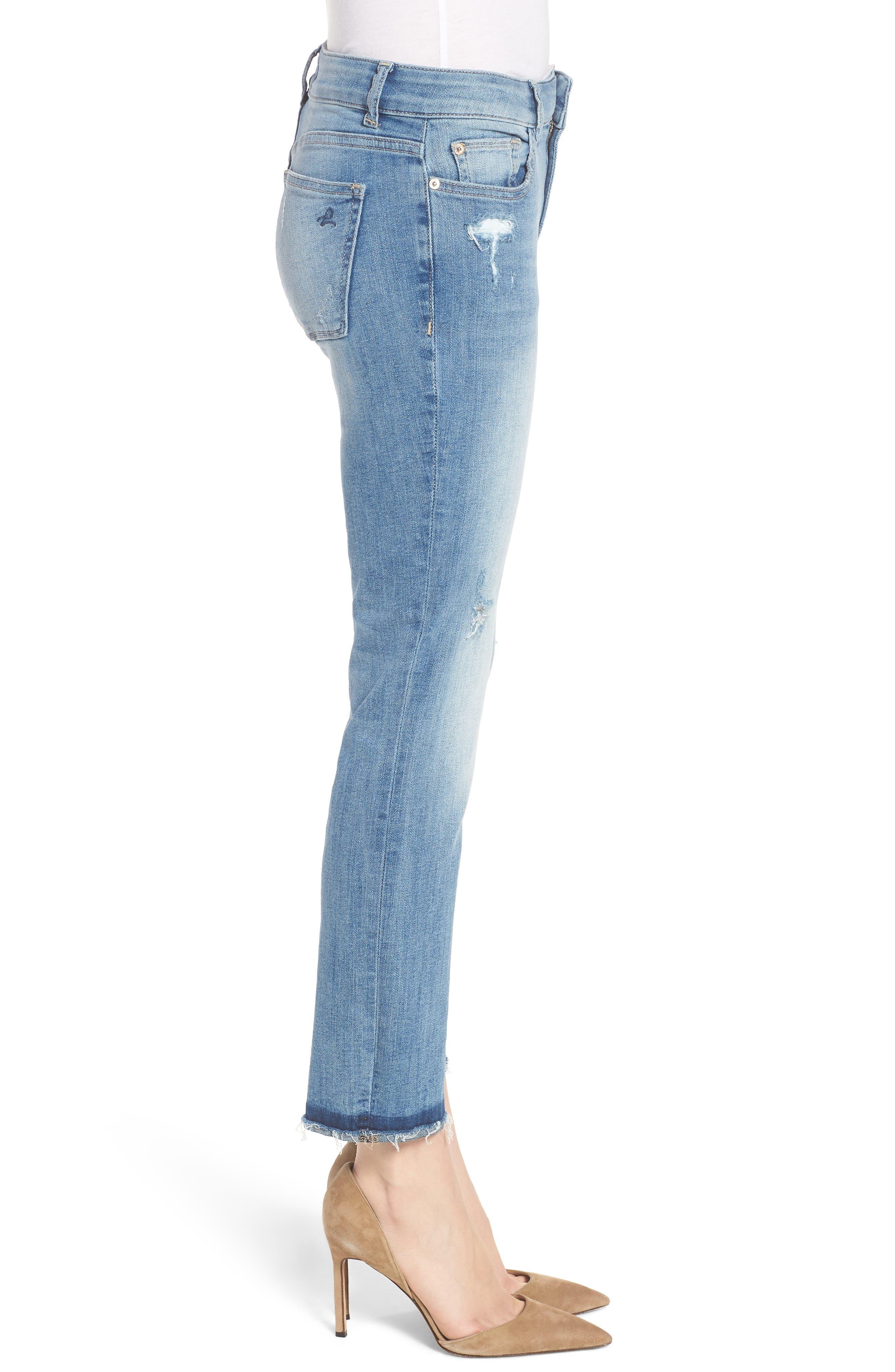 Mara Instasculpt Ankle Straight Leg Jeans,                             Alternate thumbnail 3, color,                             Montague