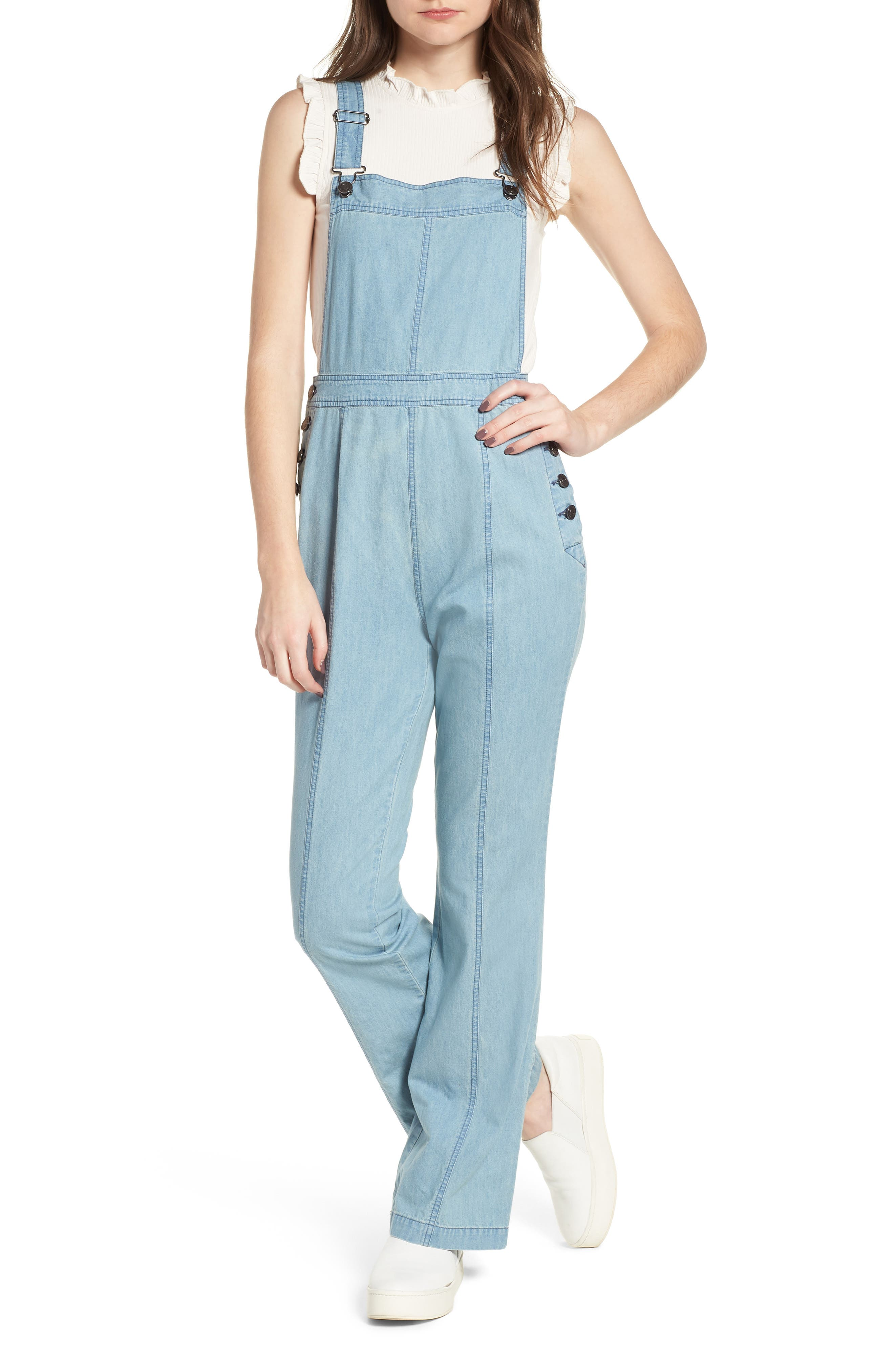 Meliani Denim Overalls,                             Main thumbnail 1, color,                             Denim