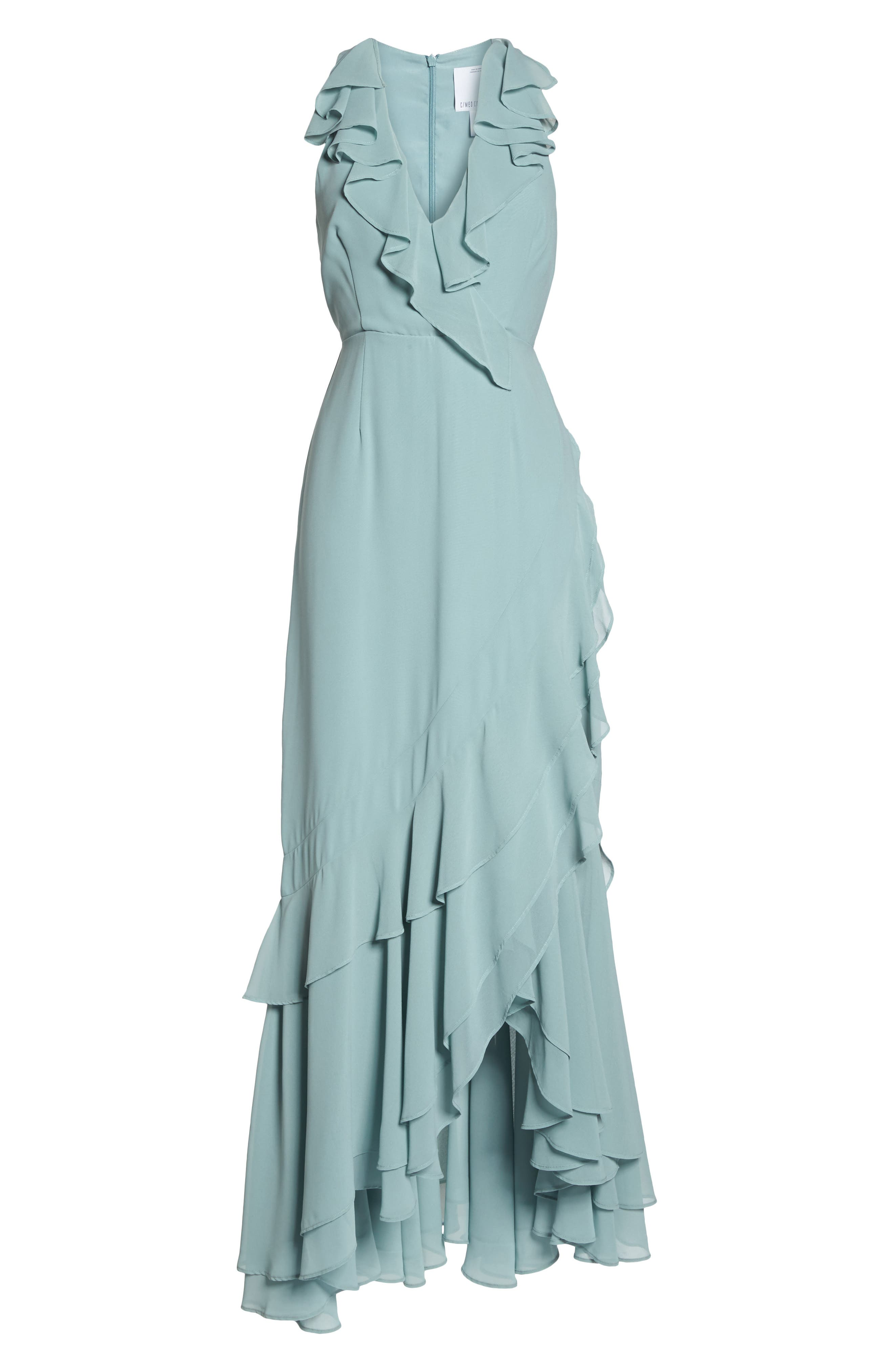 C/MEO Be About You Ruffle Gown,                             Alternate thumbnail 8, color,                             Sage