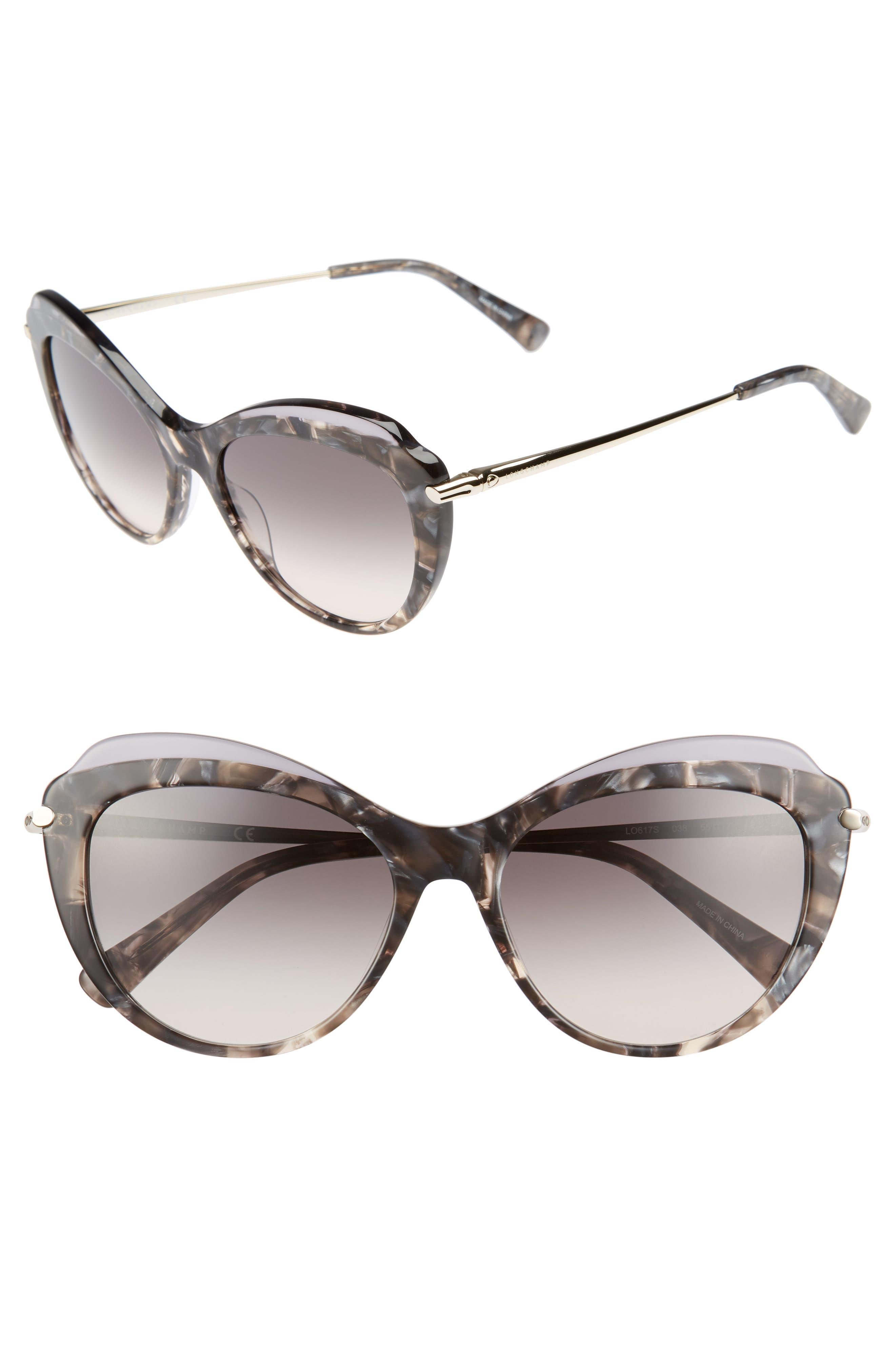 Main Image - Longchamp 55mm Cat Eye Sunglasses