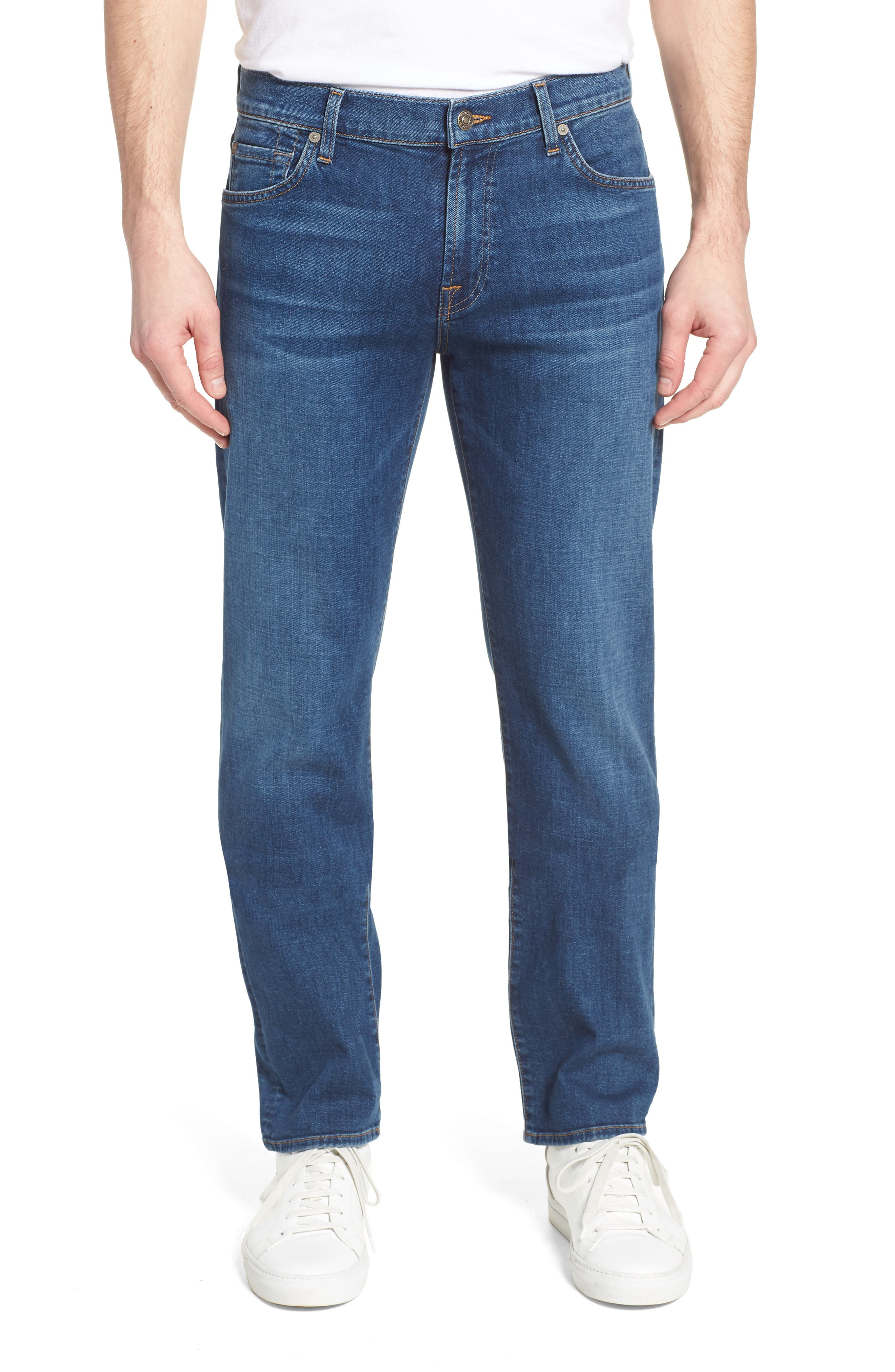 Standard Straight Leg Jeans,                             Main thumbnail 1, color,                             Oasis