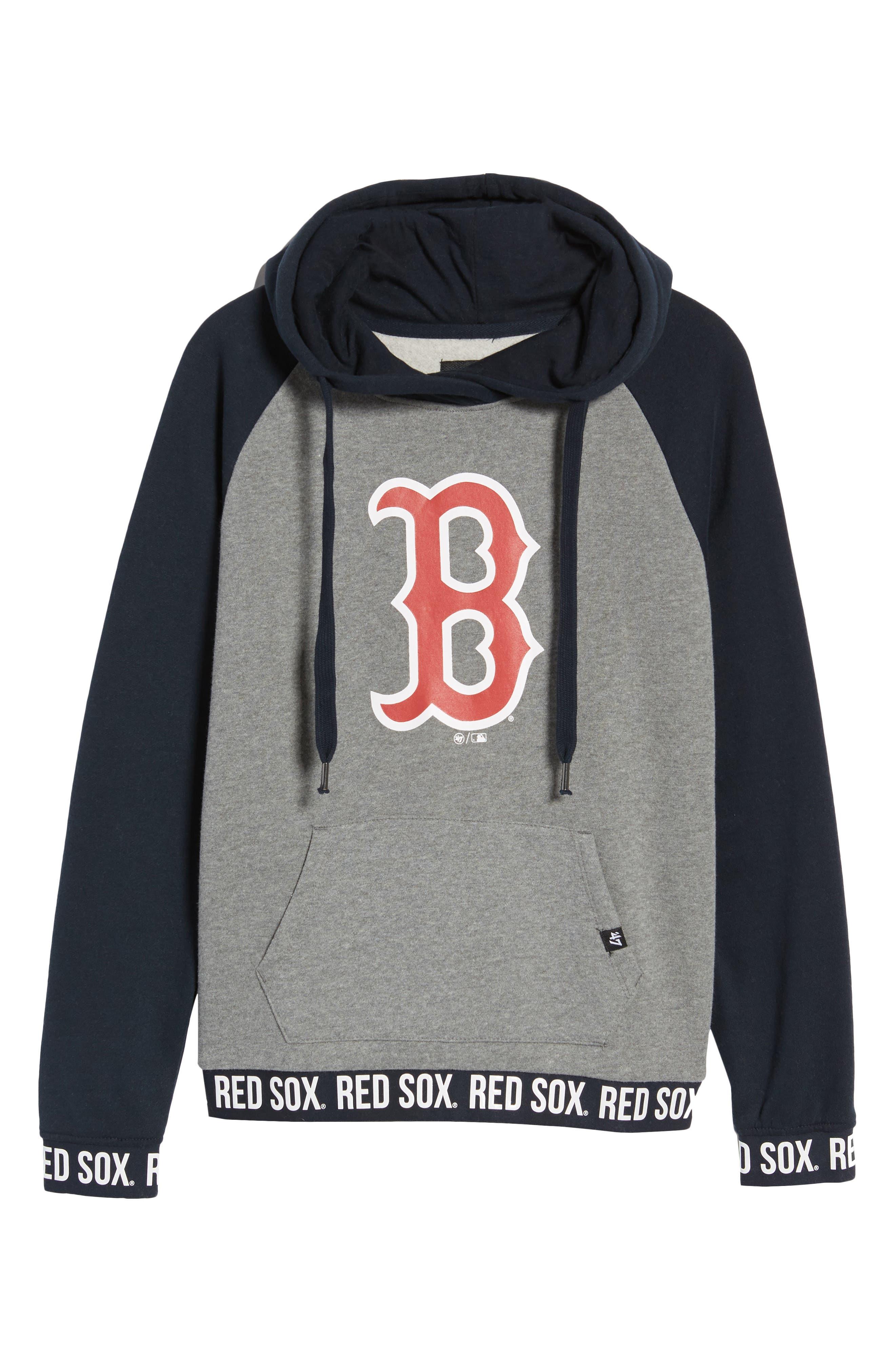 Encore Revolve Boston Red Sox Hoodie,                             Alternate thumbnail 7, color,                             Vintage Grey