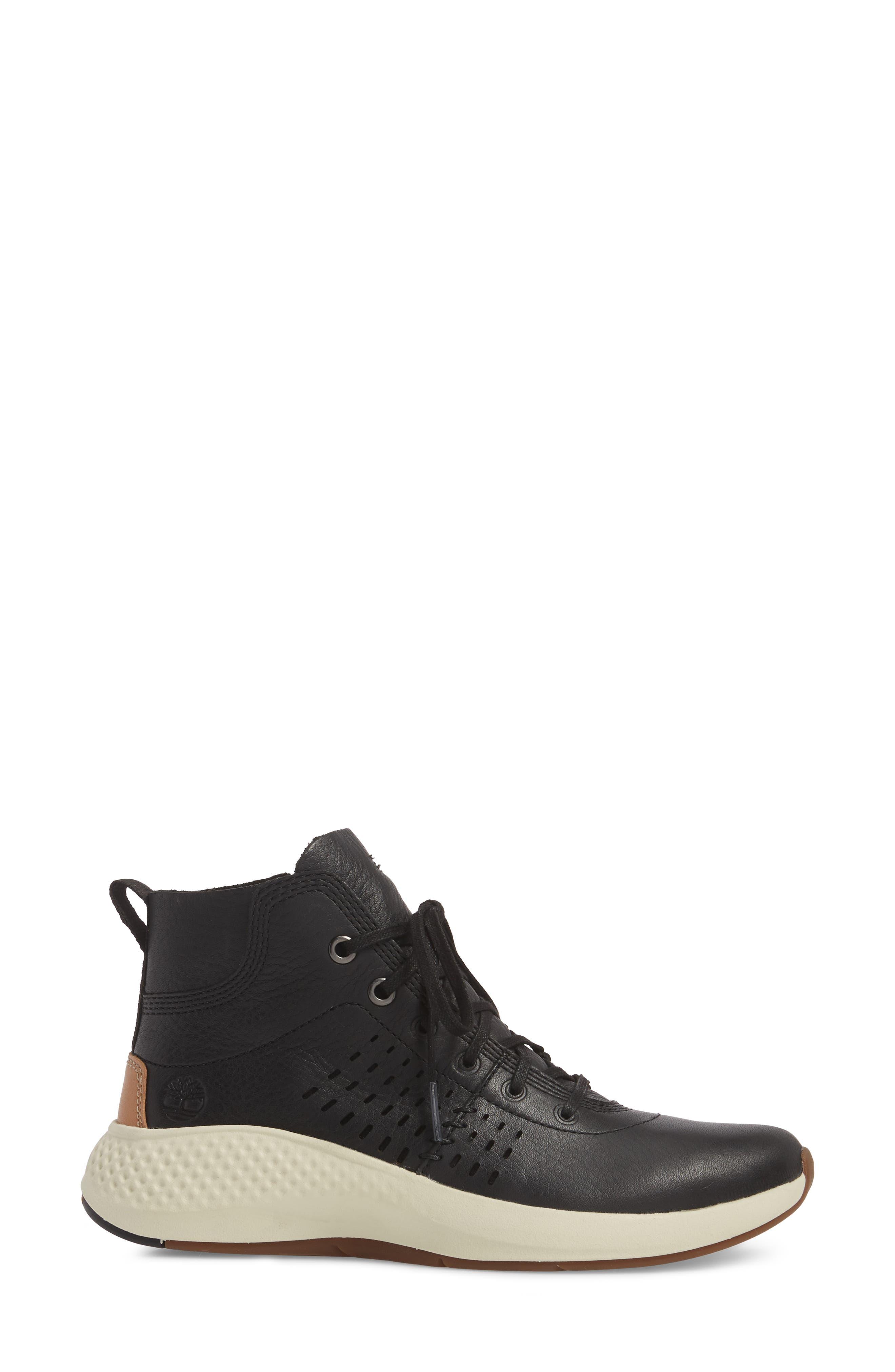 Flyroam Go Chukka Bootie,                             Alternate thumbnail 3, color,                             Black Leather